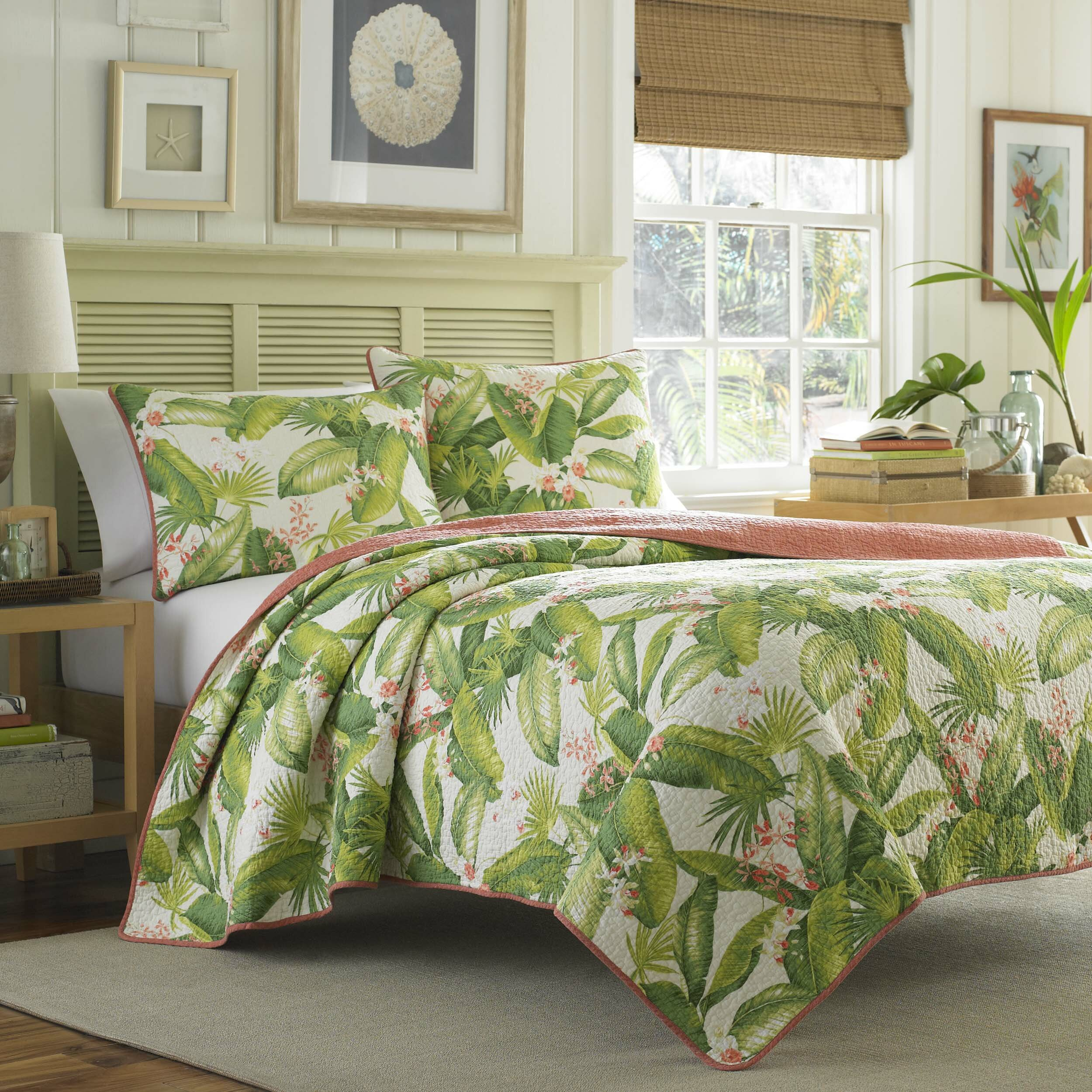 Tommy bahama bedding aregada dock reversible quilt set Tommy bahama bedding