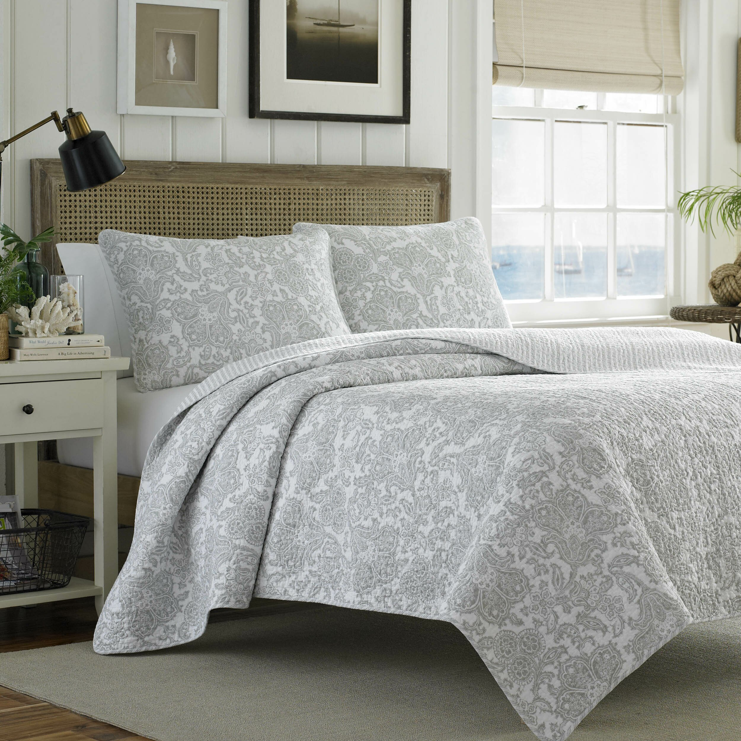 Tommy Bahama Bedding Island Memory Reversible Coverlet Set