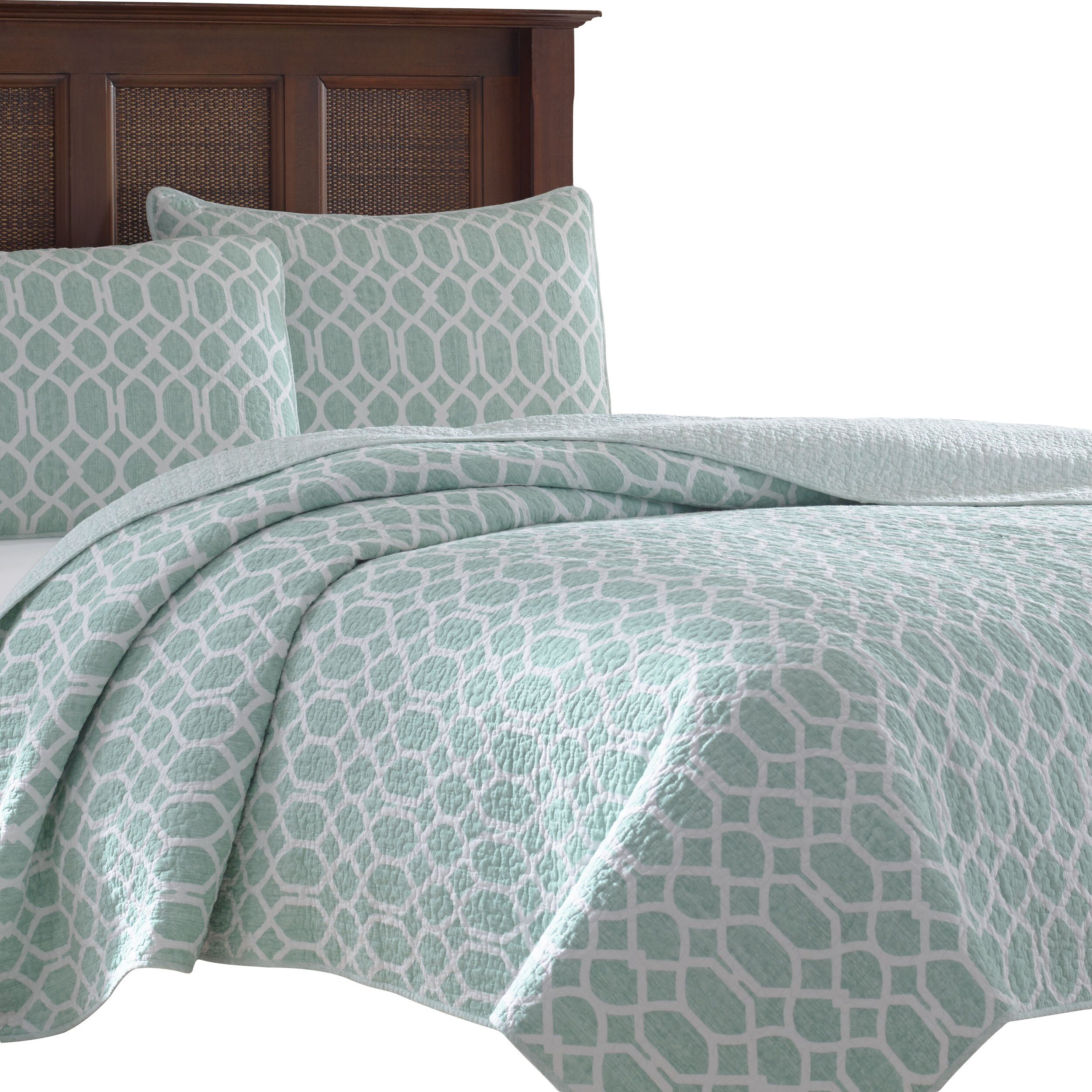 Tommy Bahama Bedding Catalina Trellis 3 Piece Reversible