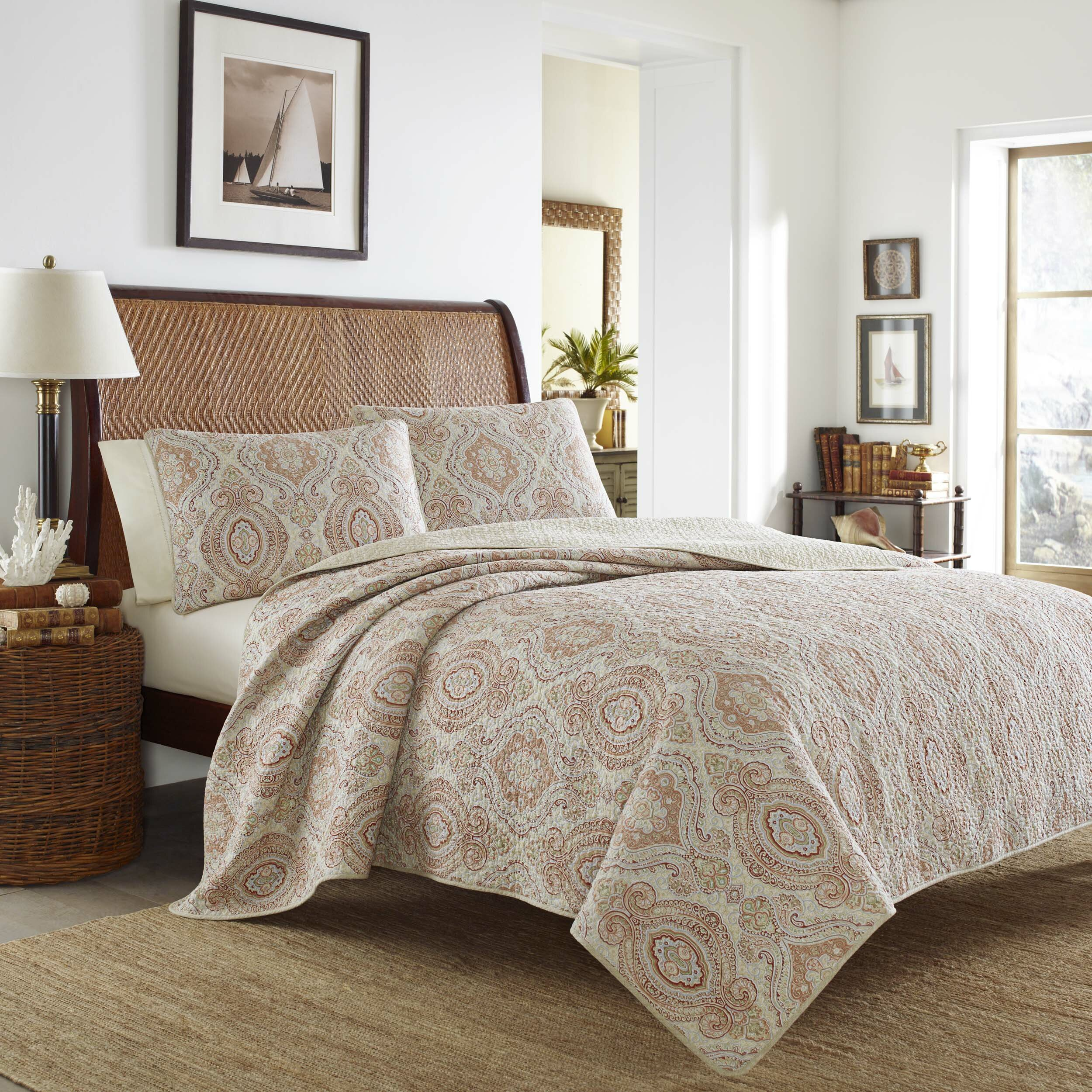 Tommy Bahama Bedding Turtle Cove Reversible Quilt Set