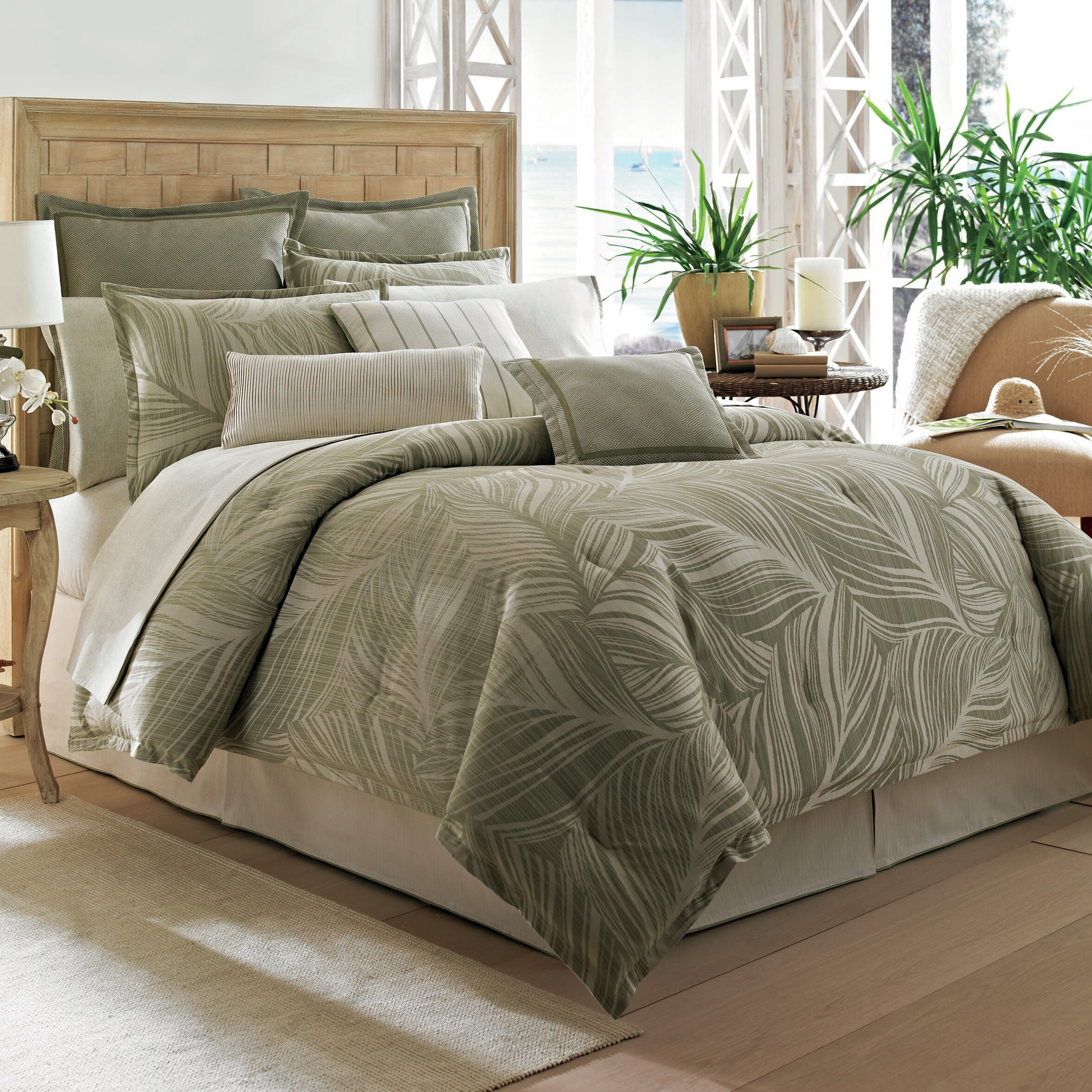 Tommy bahama bedding montauk drifter comforter collection for Bed settings