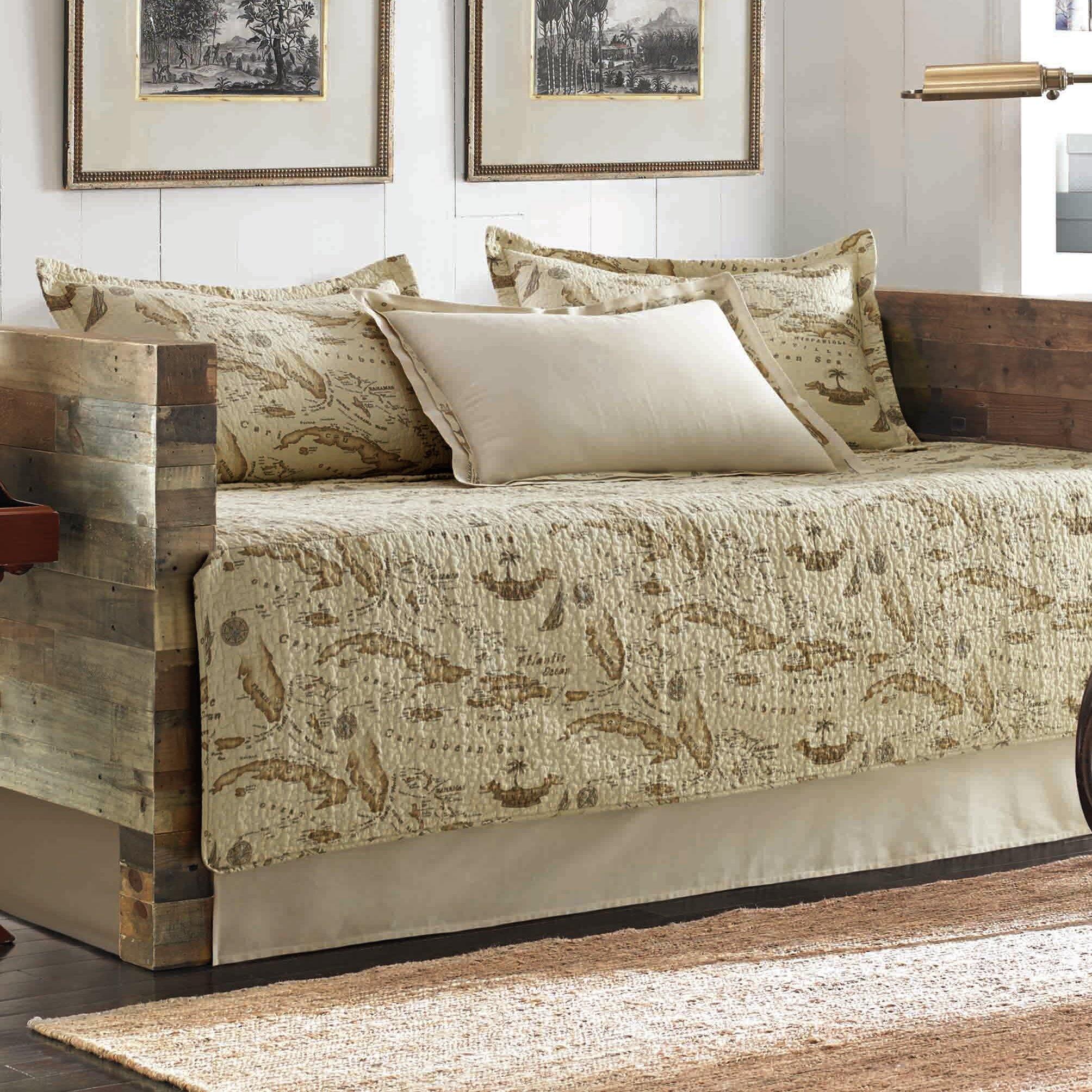Tommy Bahama Bedding Map 5 Piece Daybed Cover Set
