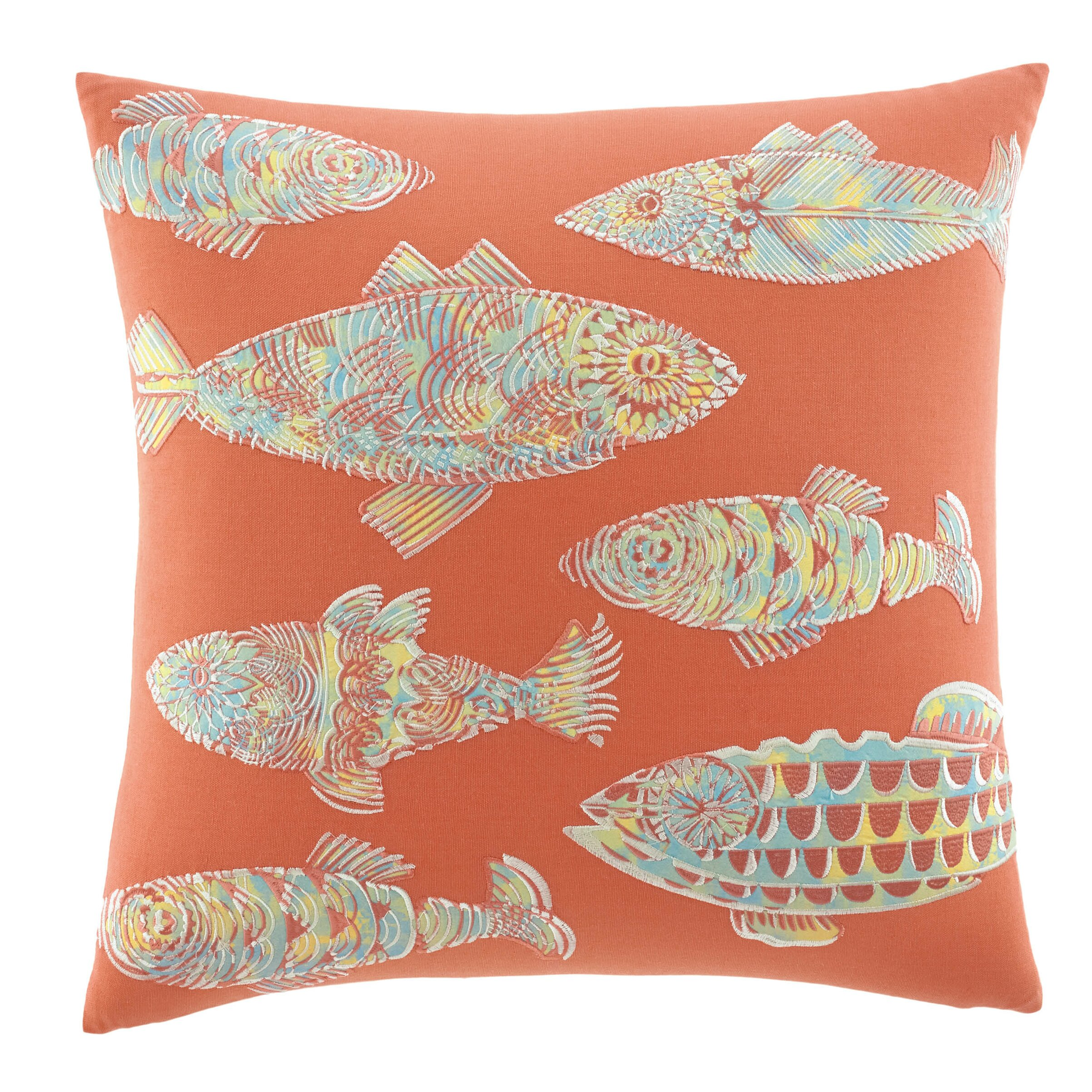 Colorful Throw Pillows Bedroom : Tommy Bahama Bedding Batic Fish Cotton Decorative Throw Pillow & Reviews Wayfair