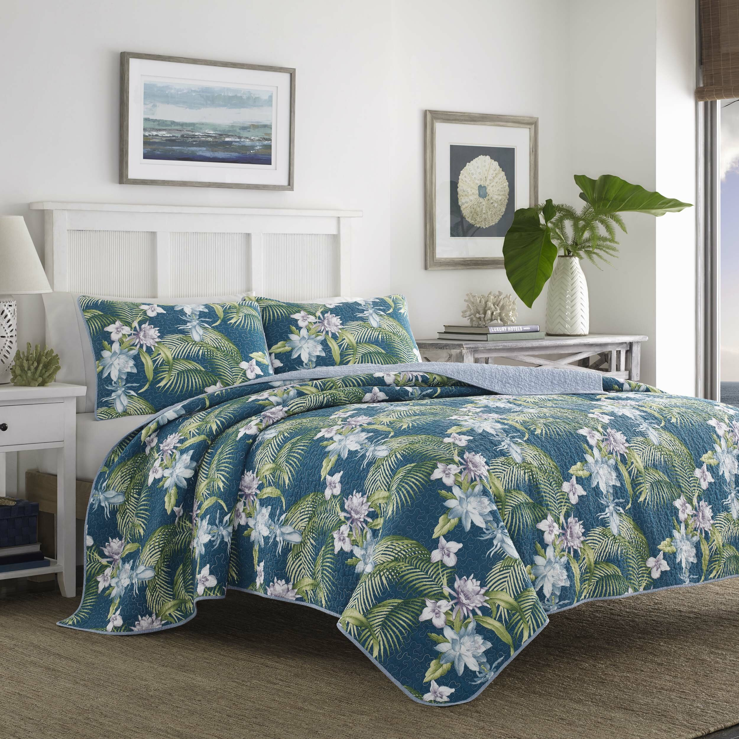 Tommy Bahama Bedding Southern Breeze Reversible Quilt Set