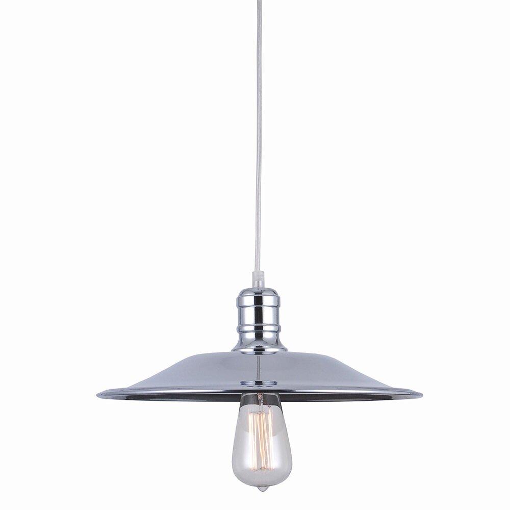 Bromi design astor court industrial 1 light mini pendant for Wayfair industrial lamp