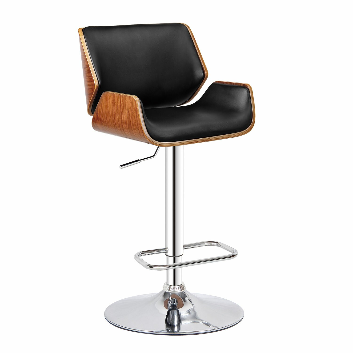 Bromi Design Dempster Adjustable Height Swivel Bar Stool