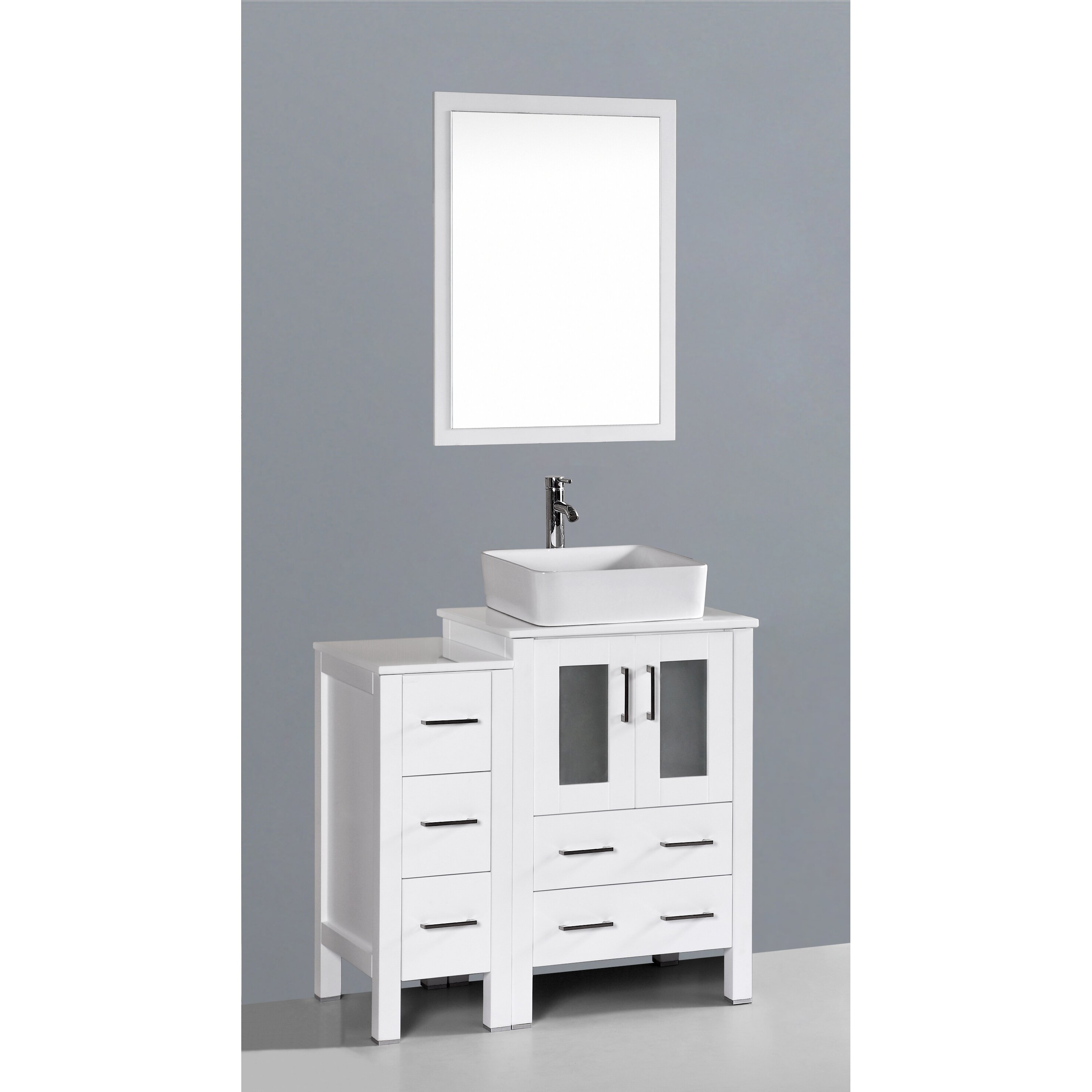 36 Single Bathroom Vanity Set With Mirror By Art