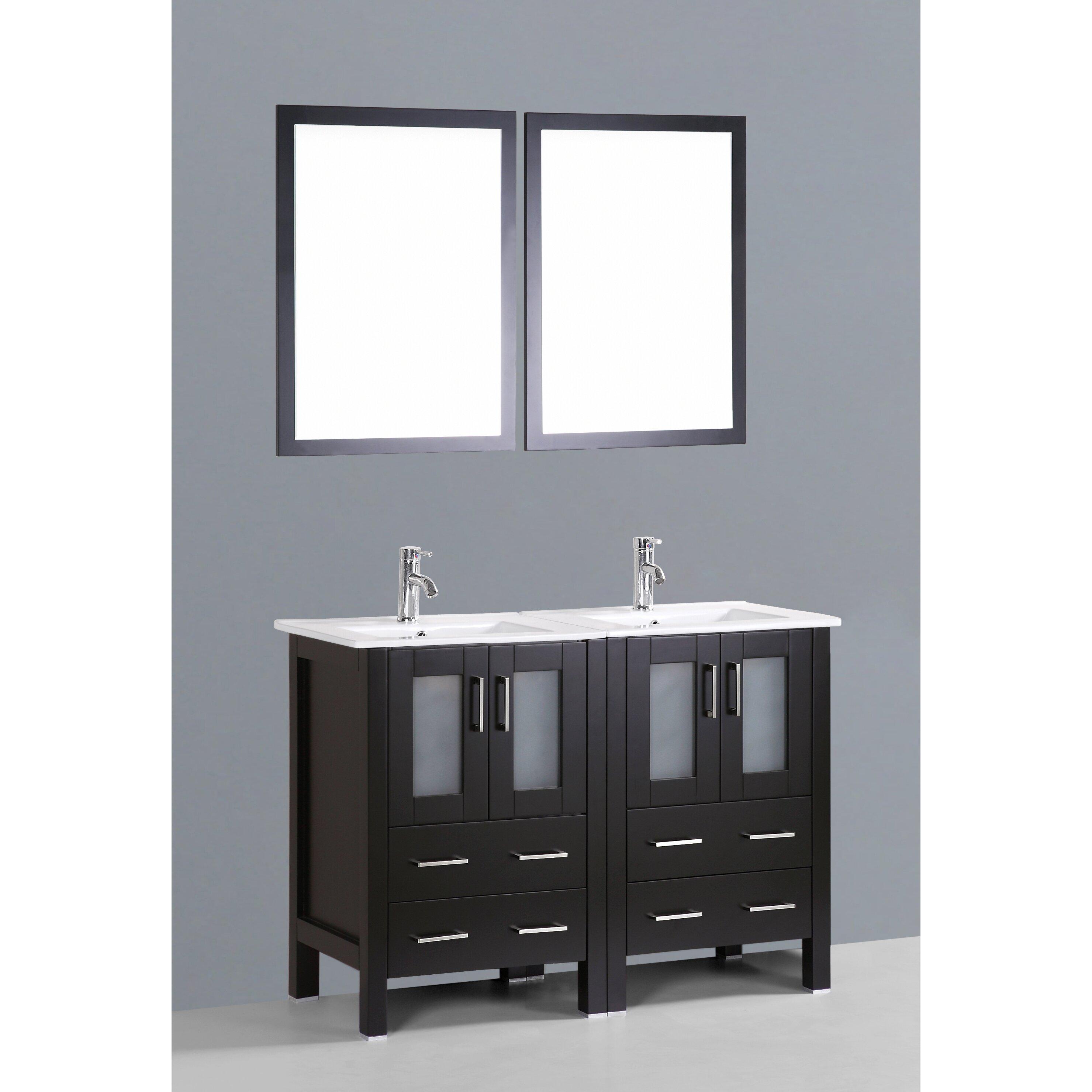 bosconi contemporary 48 double bathroom vanity set with