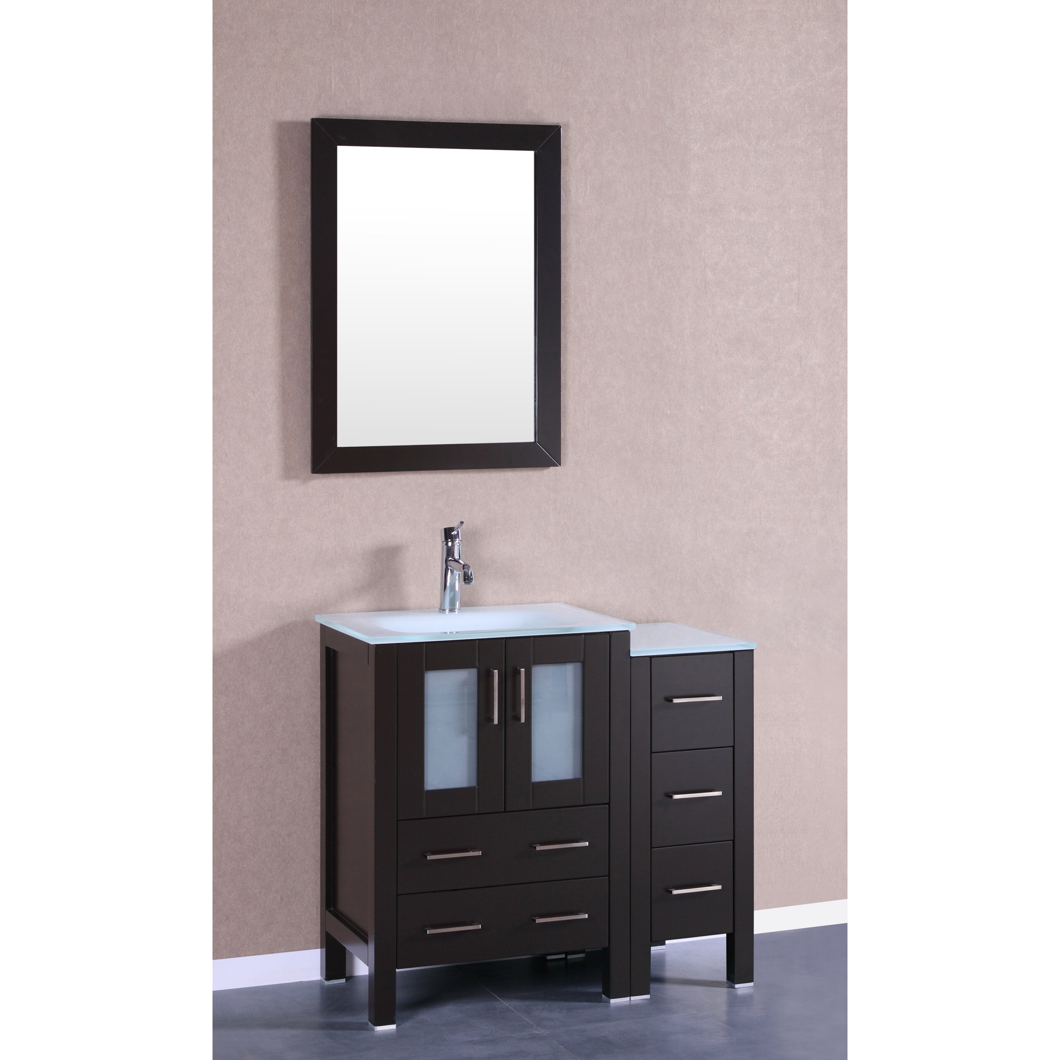 Bosconi 36 Single Vanity Set With Mirror Wayfair