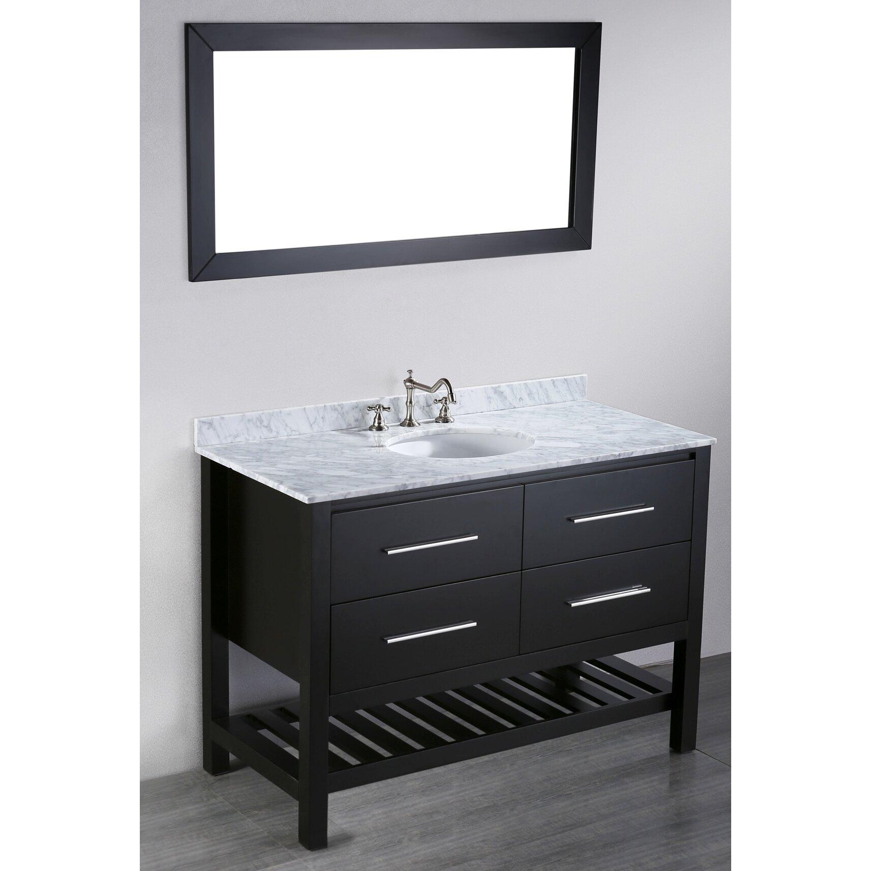 Bosconi Contemporary 47 Single Bathroom Vanity Set With Mirror Reviews Wayfair