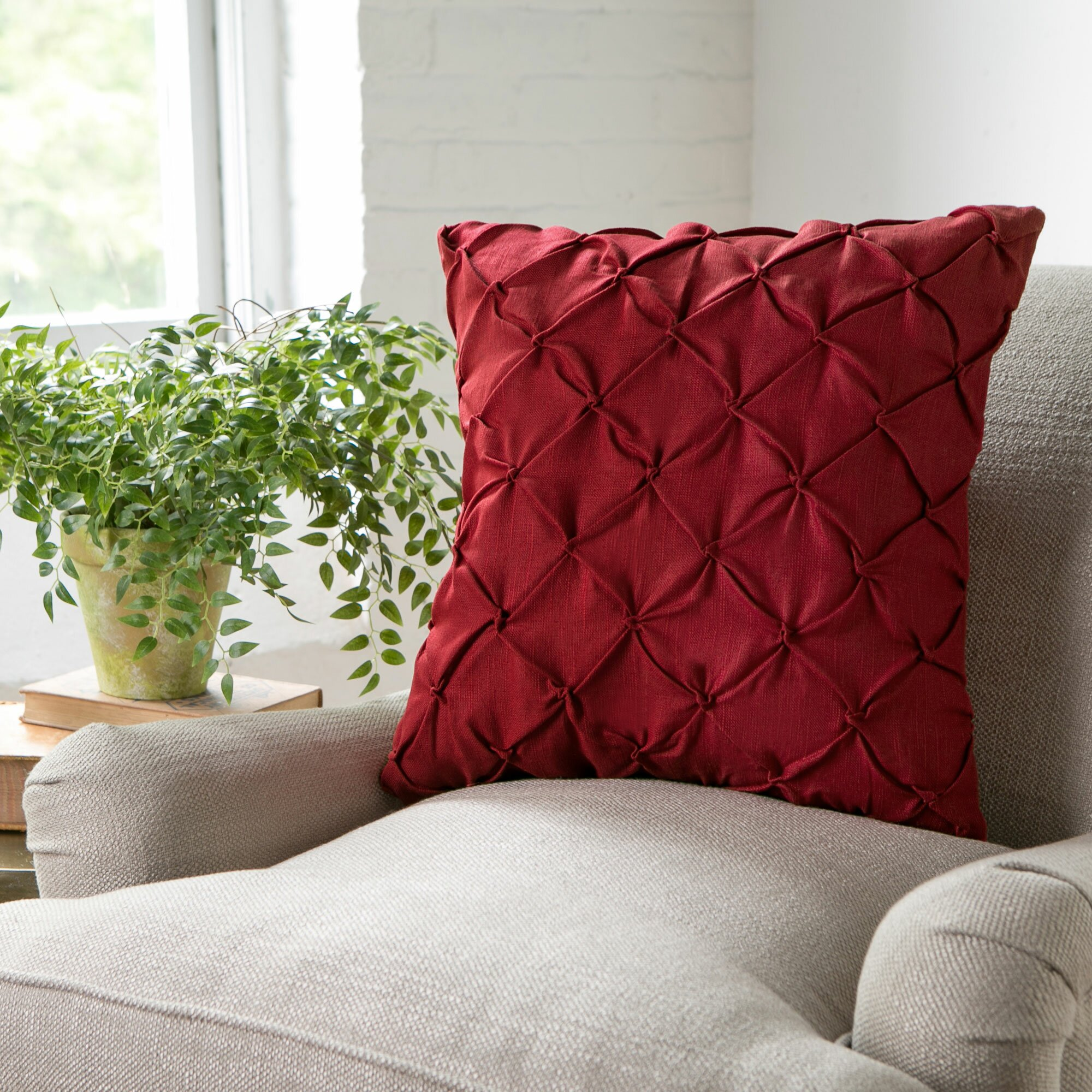 Wayfair Decorative Pillow Covers : Birch Lane Alda Pintucked Pillow Cover & Reviews Wayfair