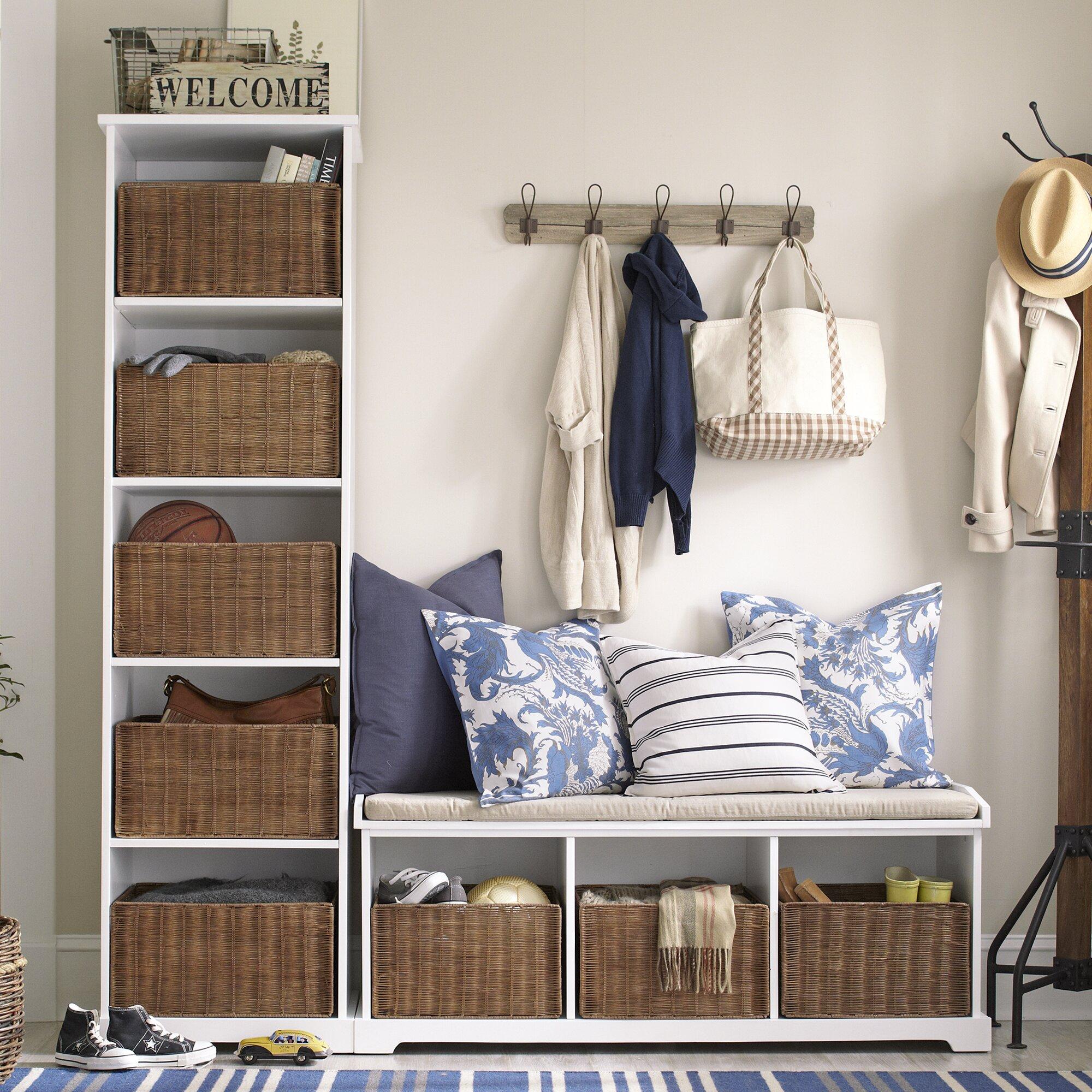 Varian Upholstered Storage Bedroom Bench Birchlane: Birch Lane Isaacs Entryway Set & Reviews
