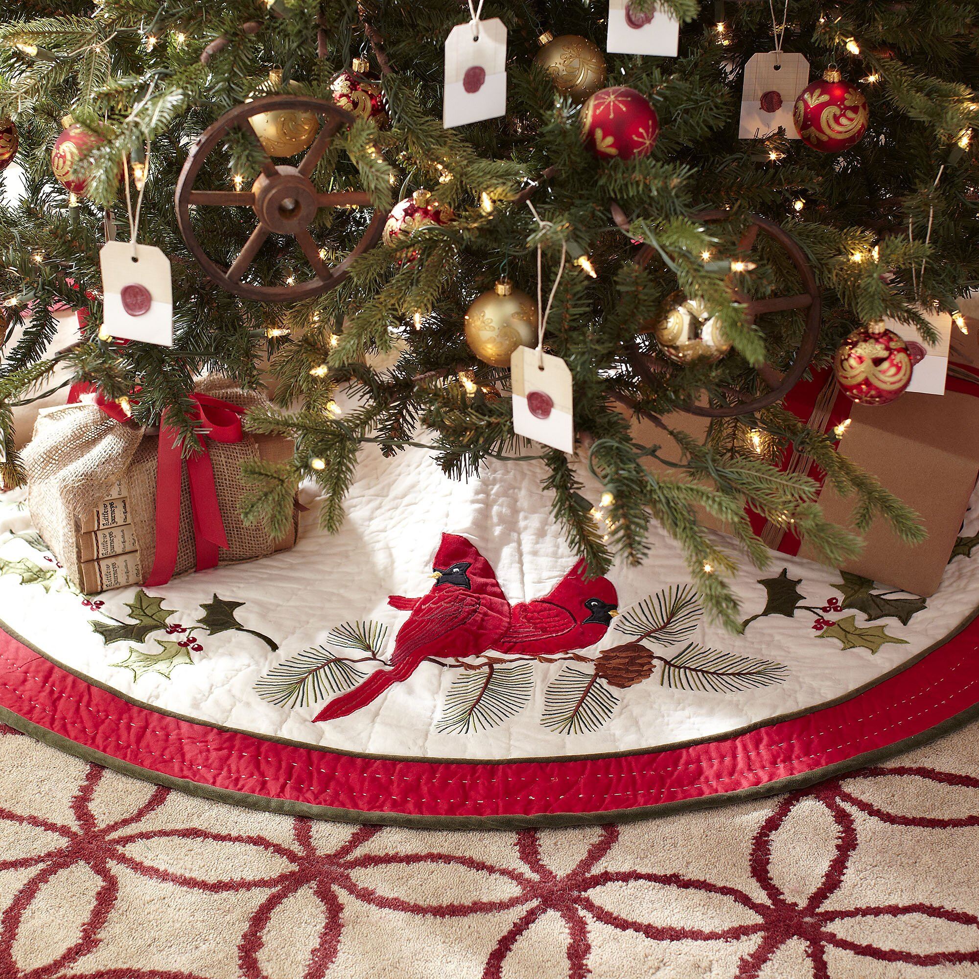 Awe Inspiring Christmas Tree Skirts You39Ll Love Wayfair Easy Diy Christmas Decorations Tissureus