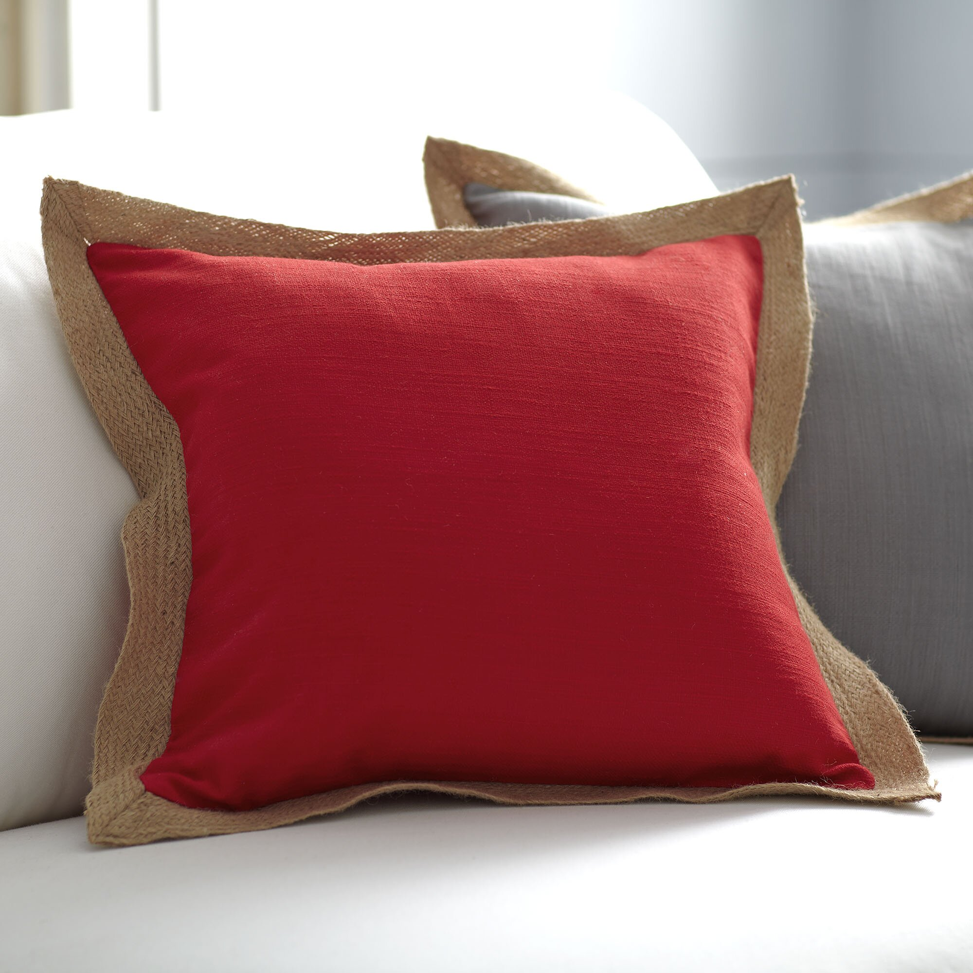 Jute Decorative Pillows : Birch Lane Cadence Jute Trim Pillow Cover & Reviews Wayfair