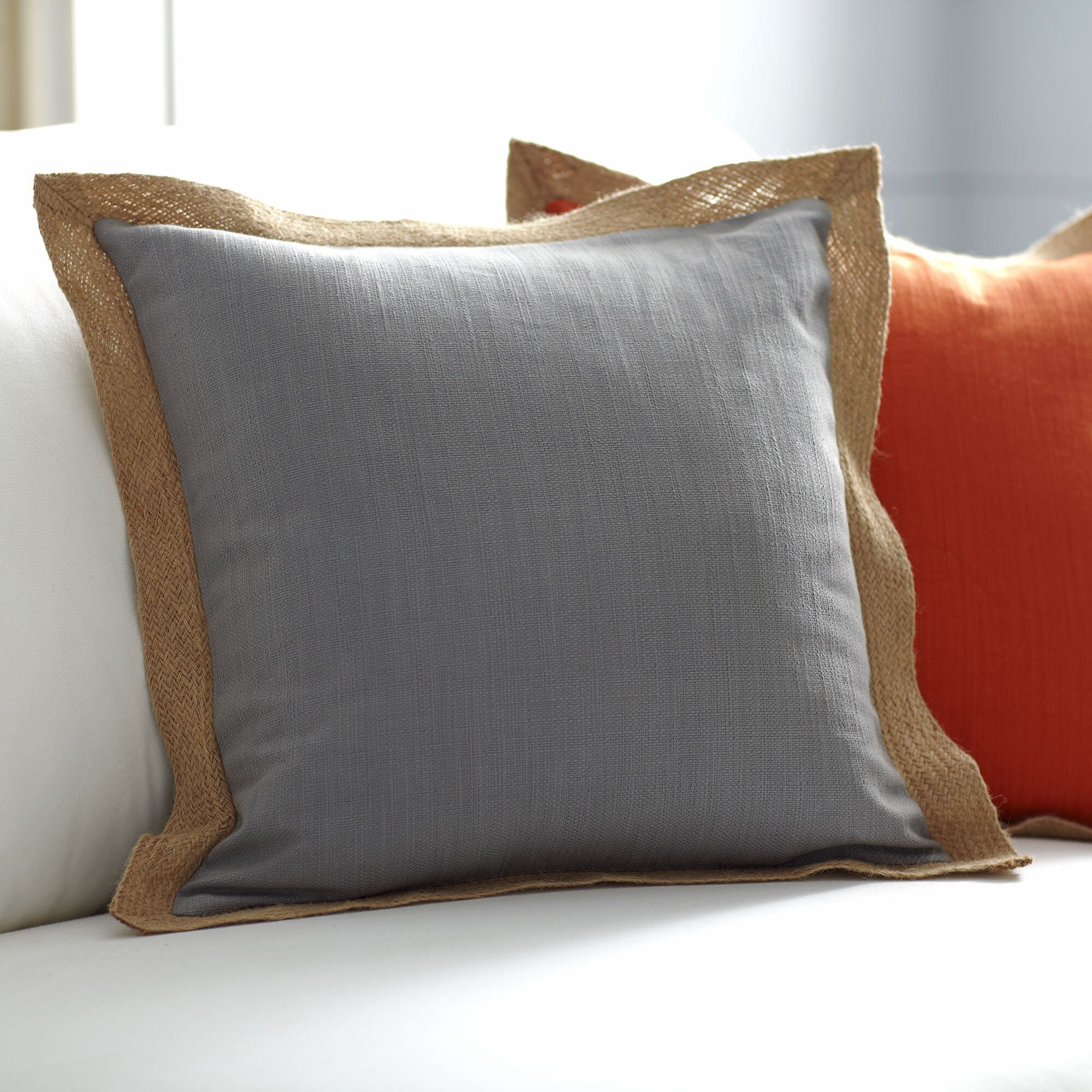 Decorative Pillows Trim : Birch Lane Cadence Jute Trim Pillow Cover & Reviews Wayfair