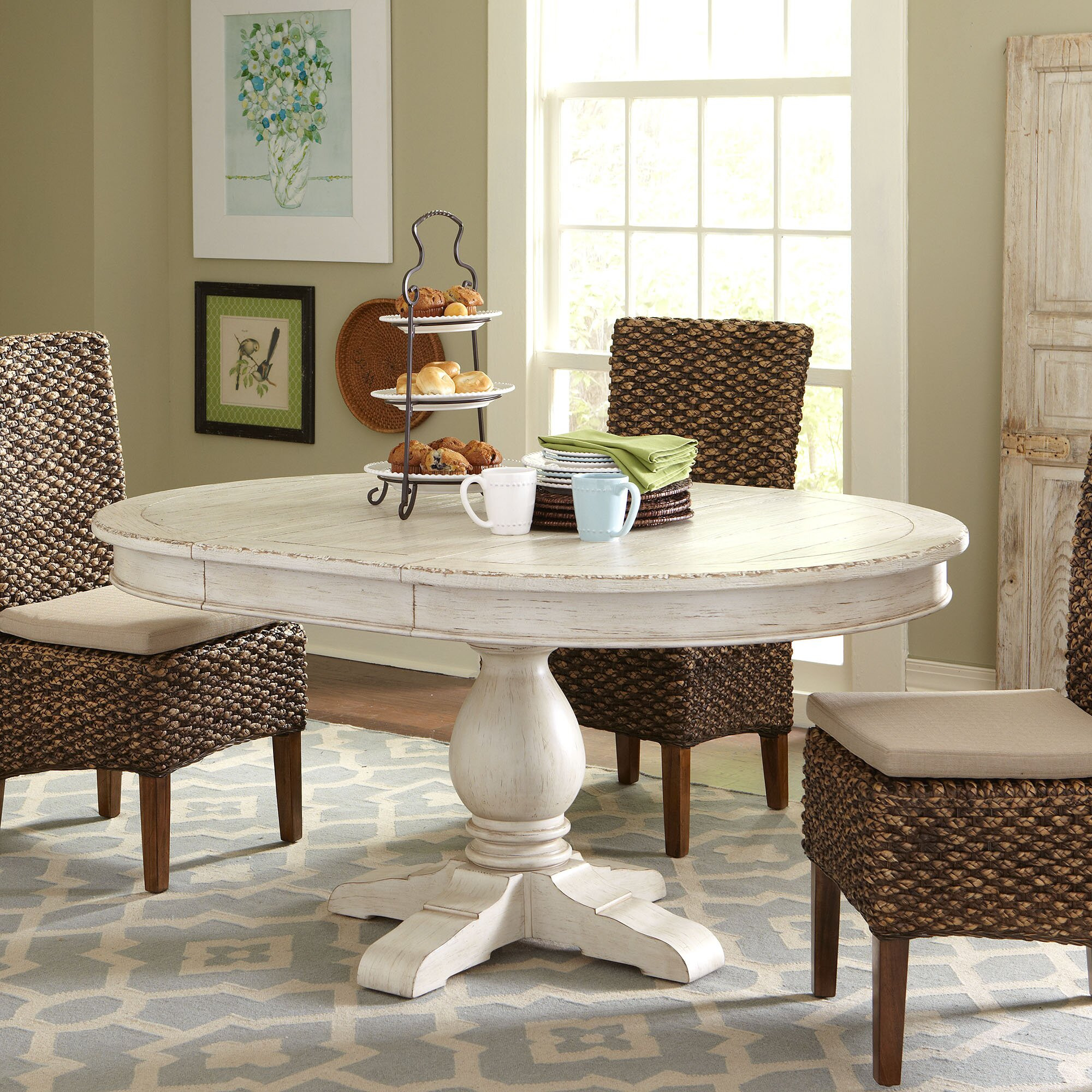 Round Kitchen Tables: Birch Lane Clearbrook Round Extending Dining Table