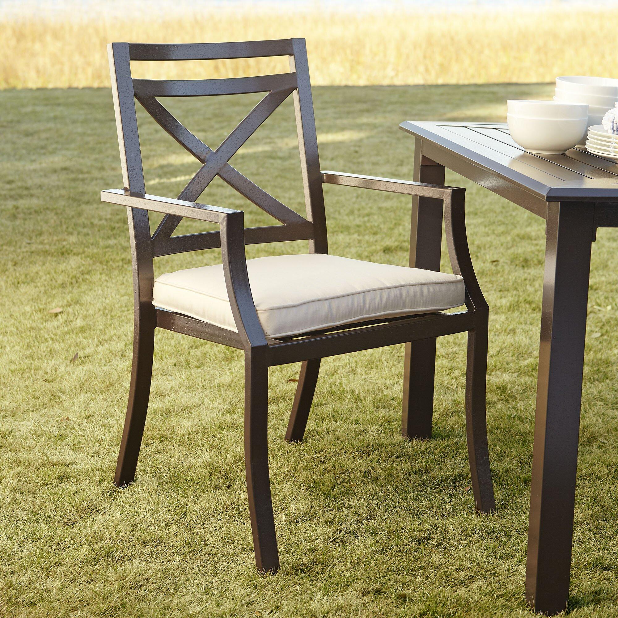 Birch lane endicott arm chair with sunbrella cushion for Dining room endicott