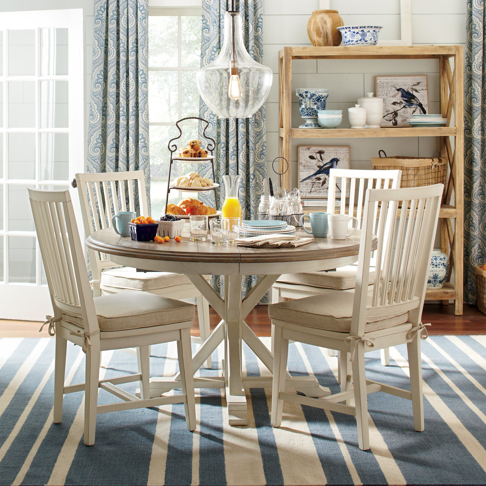 Birch Lane Grafton Extending Round Dining Table & Reviews