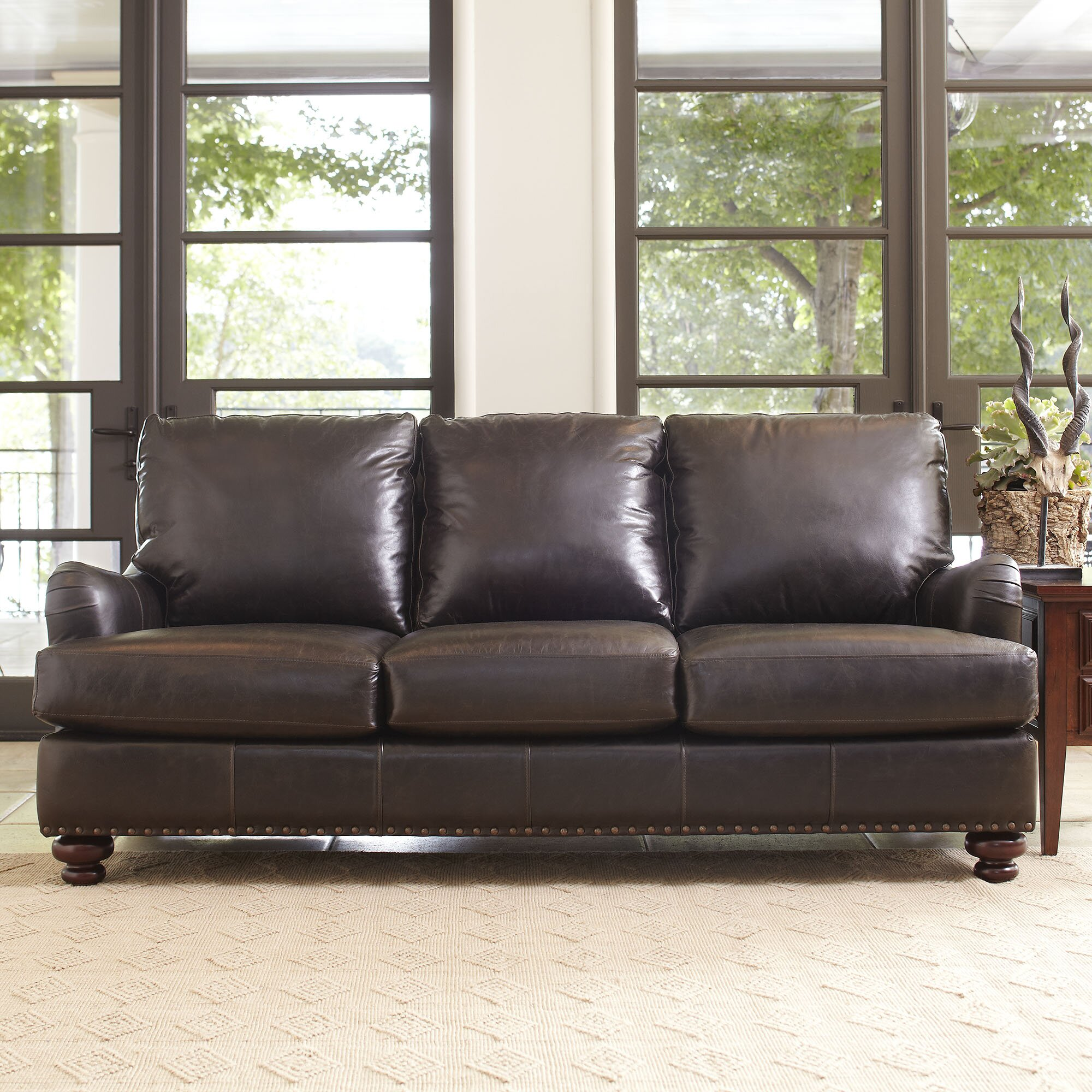 Mason White Leather Sofa: Birch Lane Montgomery Leather Sofa & Reviews
