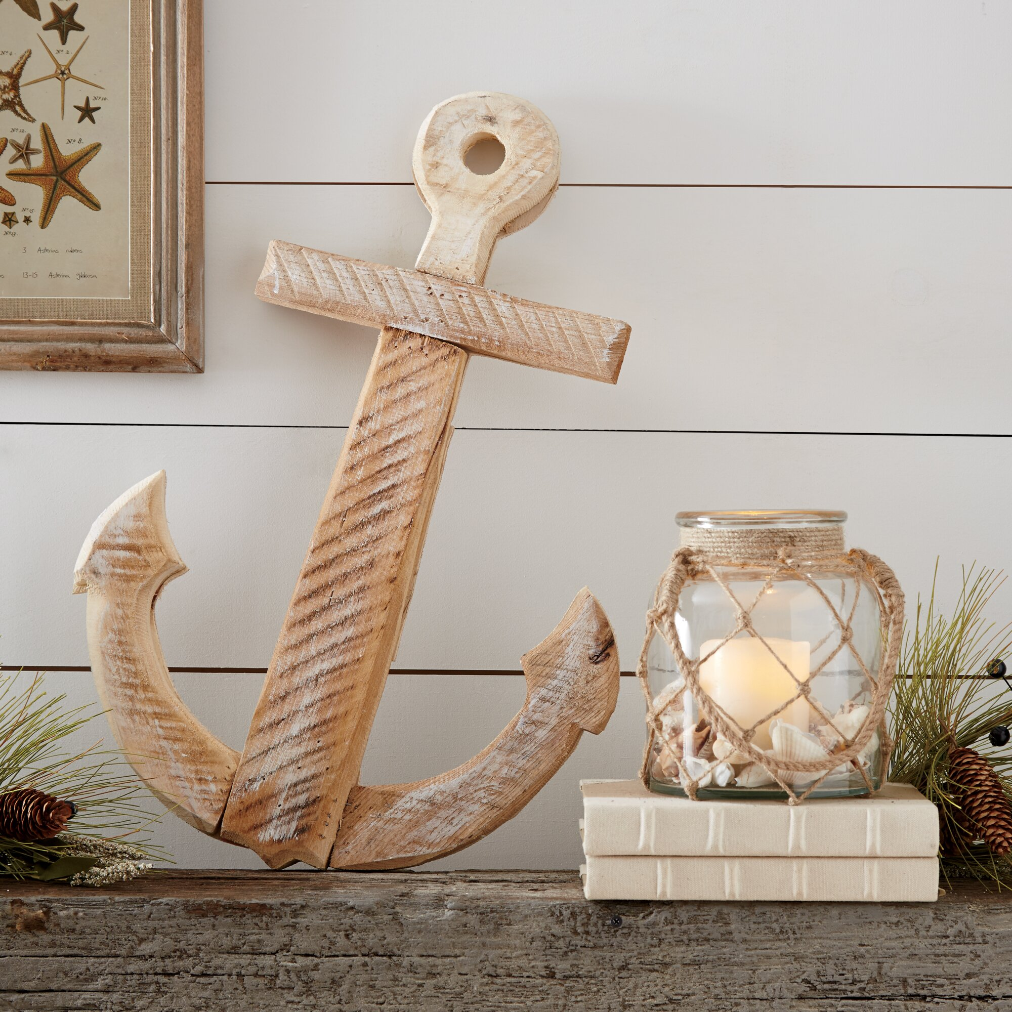 Birch lane seaside anchor decor reviews wayfair for Anchor decor