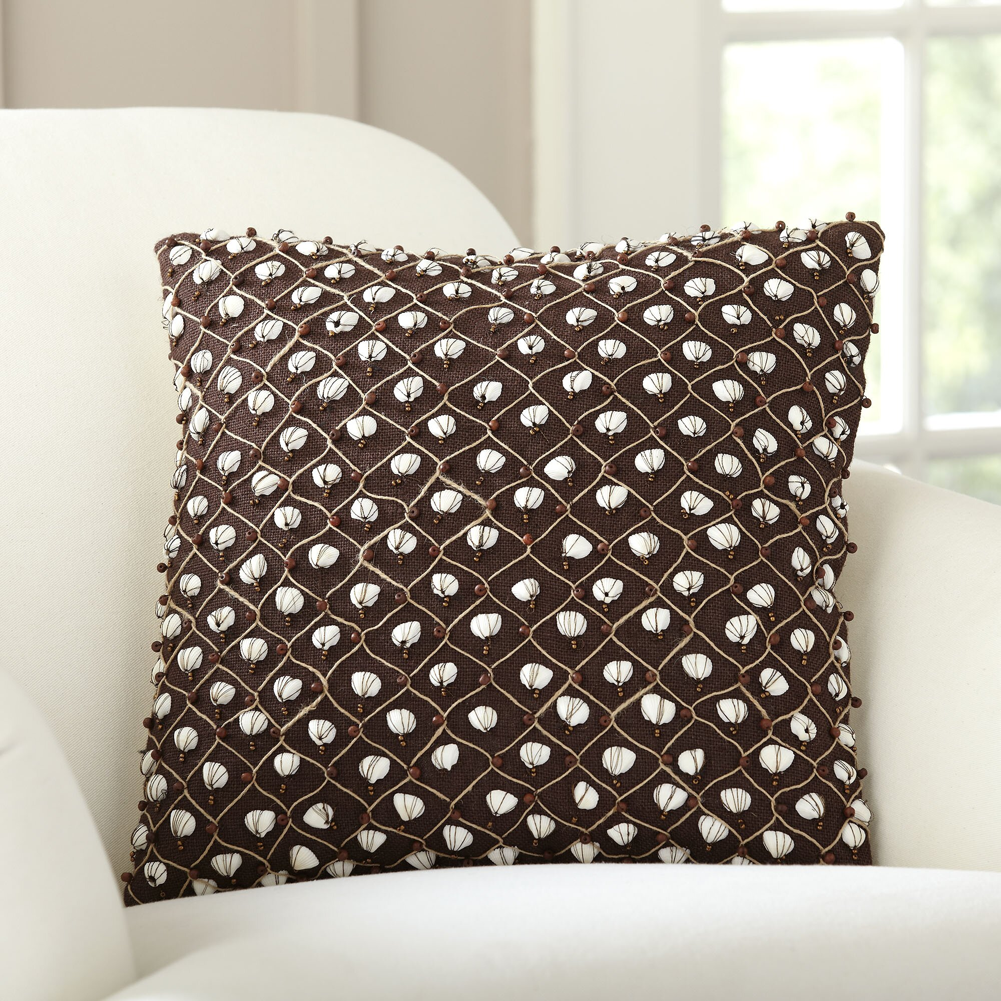 Decorative Pillows With Embellishments : Birch Lane Current Embellished Throw Pillow & Reviews Wayfair