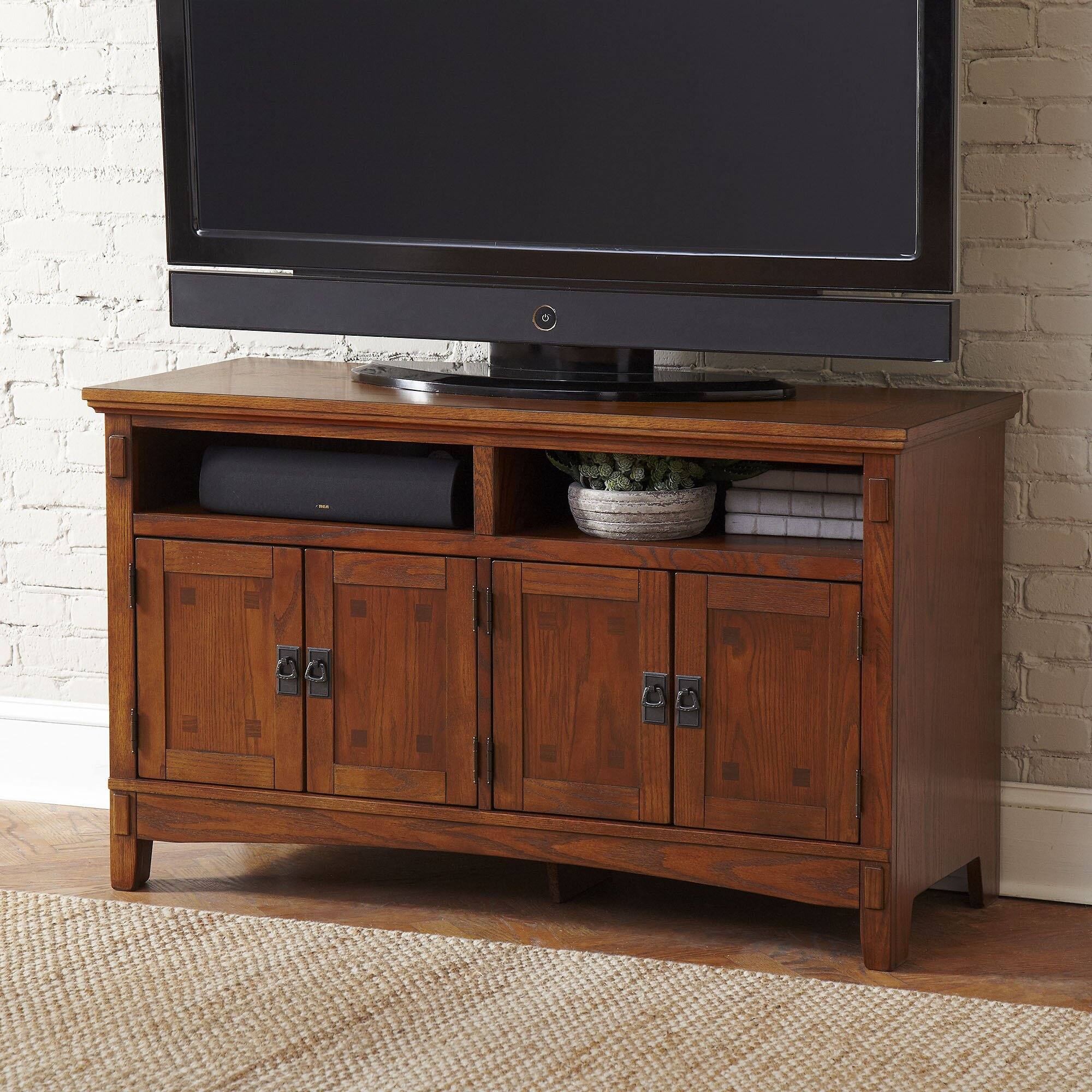 birch lane hickham 50 inch tv stand reviews wayfair. Black Bedroom Furniture Sets. Home Design Ideas