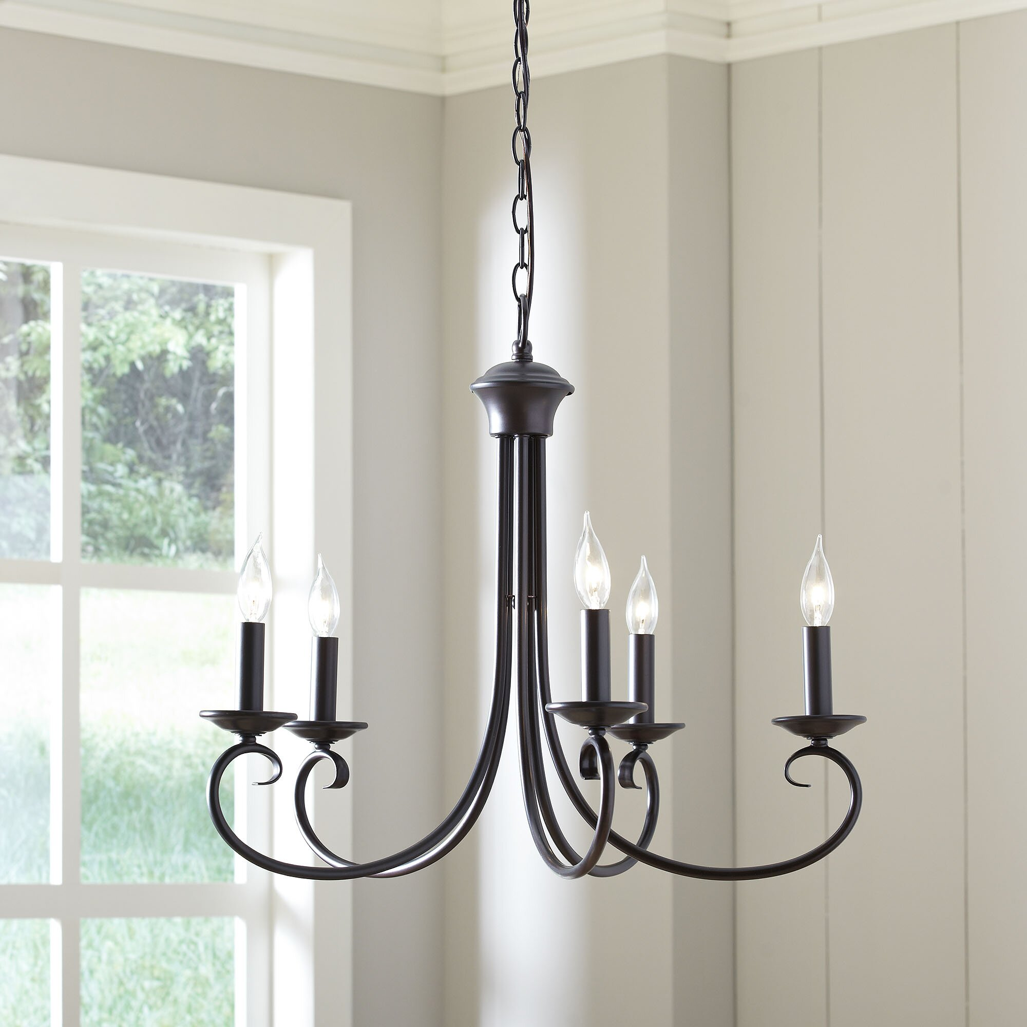 Birch Lane Edgell 5 Light Candle-Style Chandelier