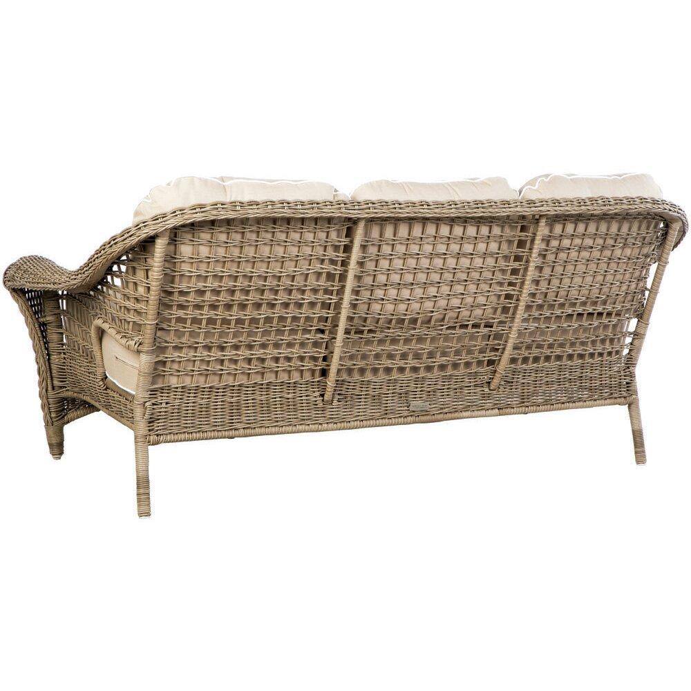 Birch Lane Lynwood Wicker Sofa With Sunbrella Cushions Reviews Birch