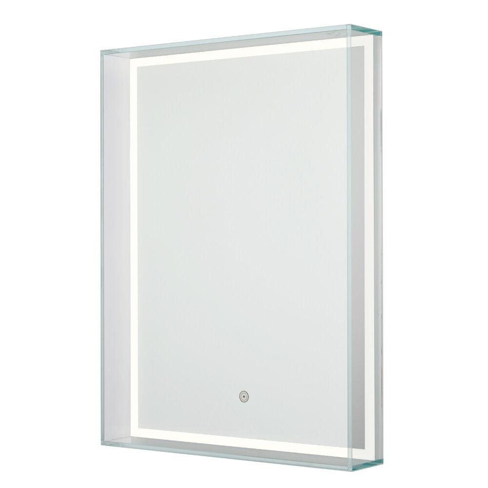 sergena ice box rectangular led vanity mirror wayfair. Black Bedroom Furniture Sets. Home Design Ideas