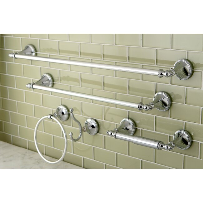 Kingston brass naples 5 piece bathroom hardware set for Bathroom 5 piece set