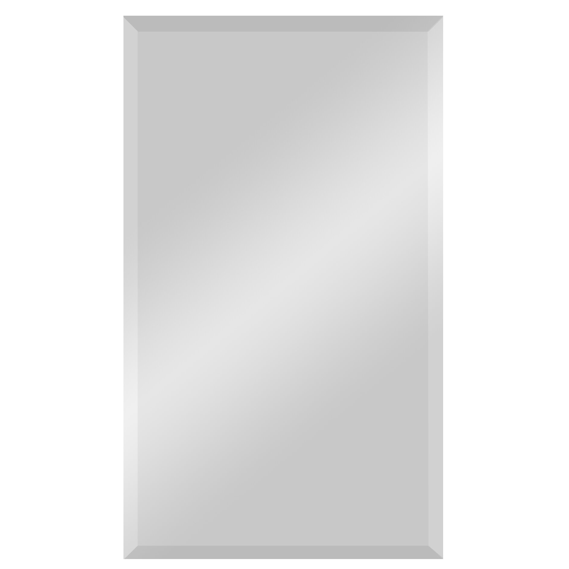Ren Wil Frameless Beveled Rectangular Wall Mirror