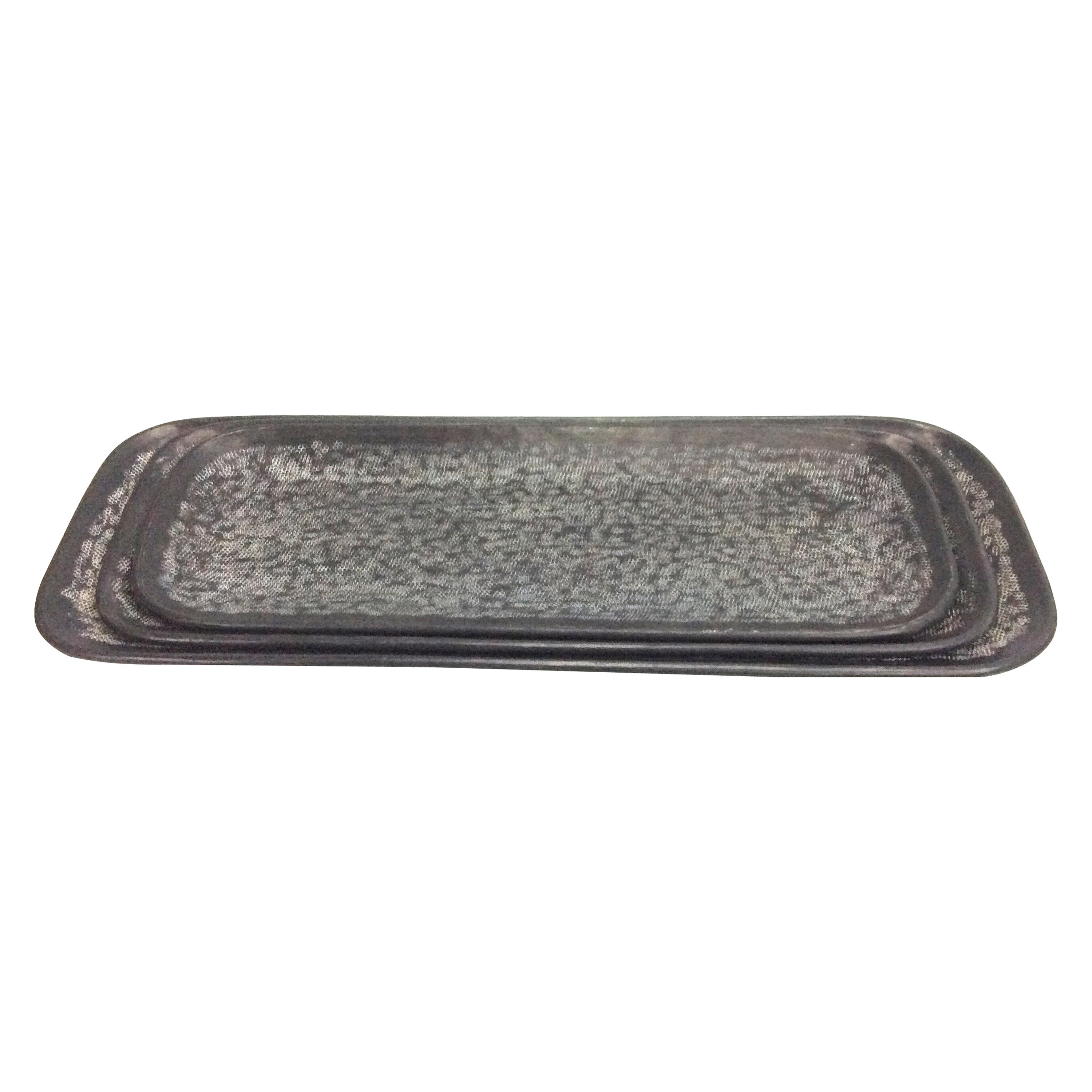 Decorative Metal Tray Round Decorative Tray With Mirrored Finish Product Details Page