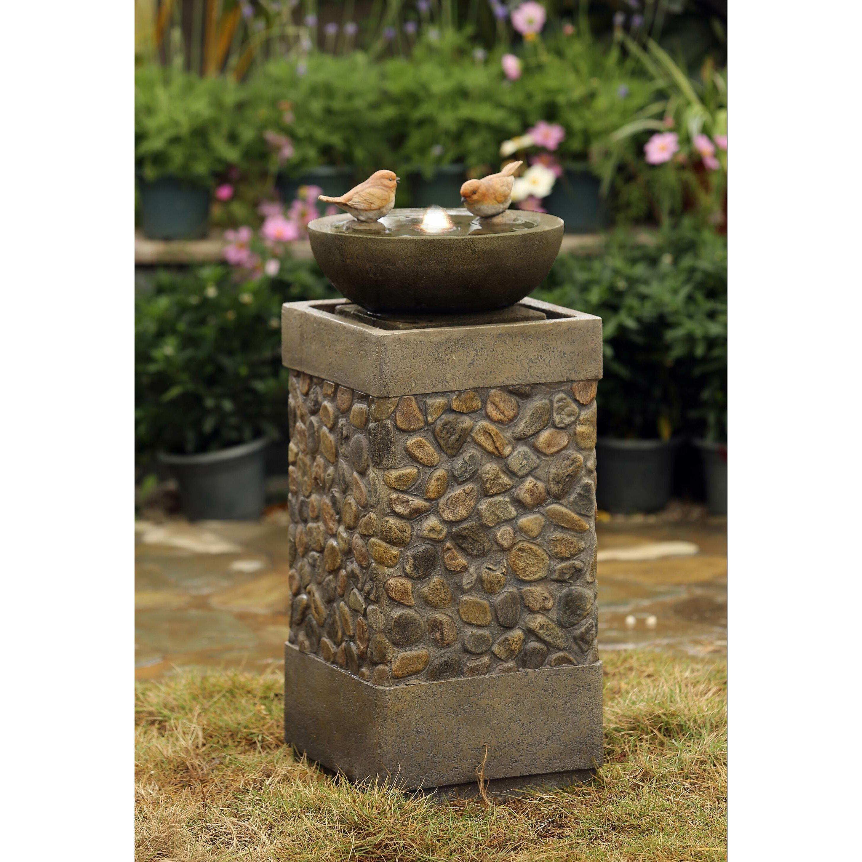 Jeco Inc Polyresin And Fiberglass Bird Fountain Reviews Wayfair