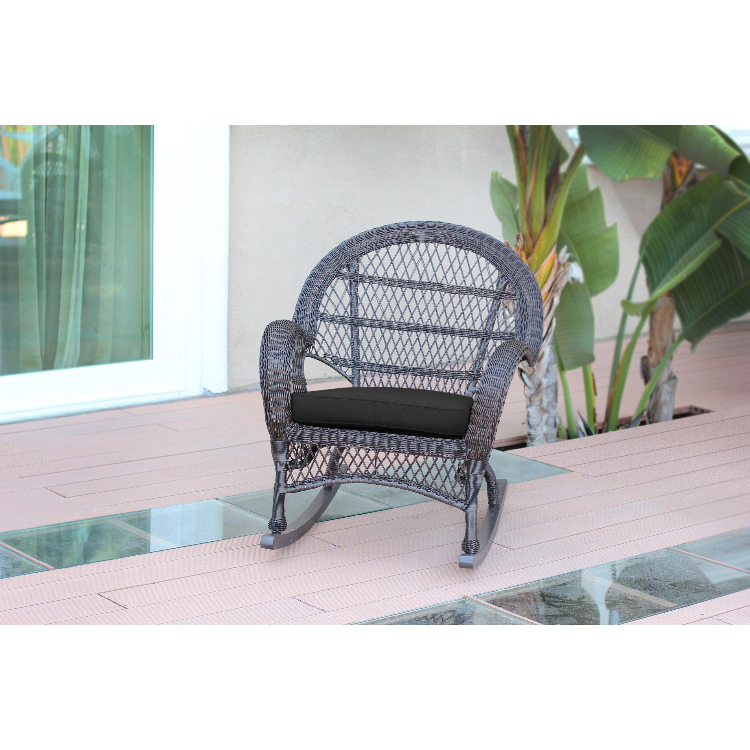 Jeco Inc Wicker Rocker Chair With Cushions Wayfair