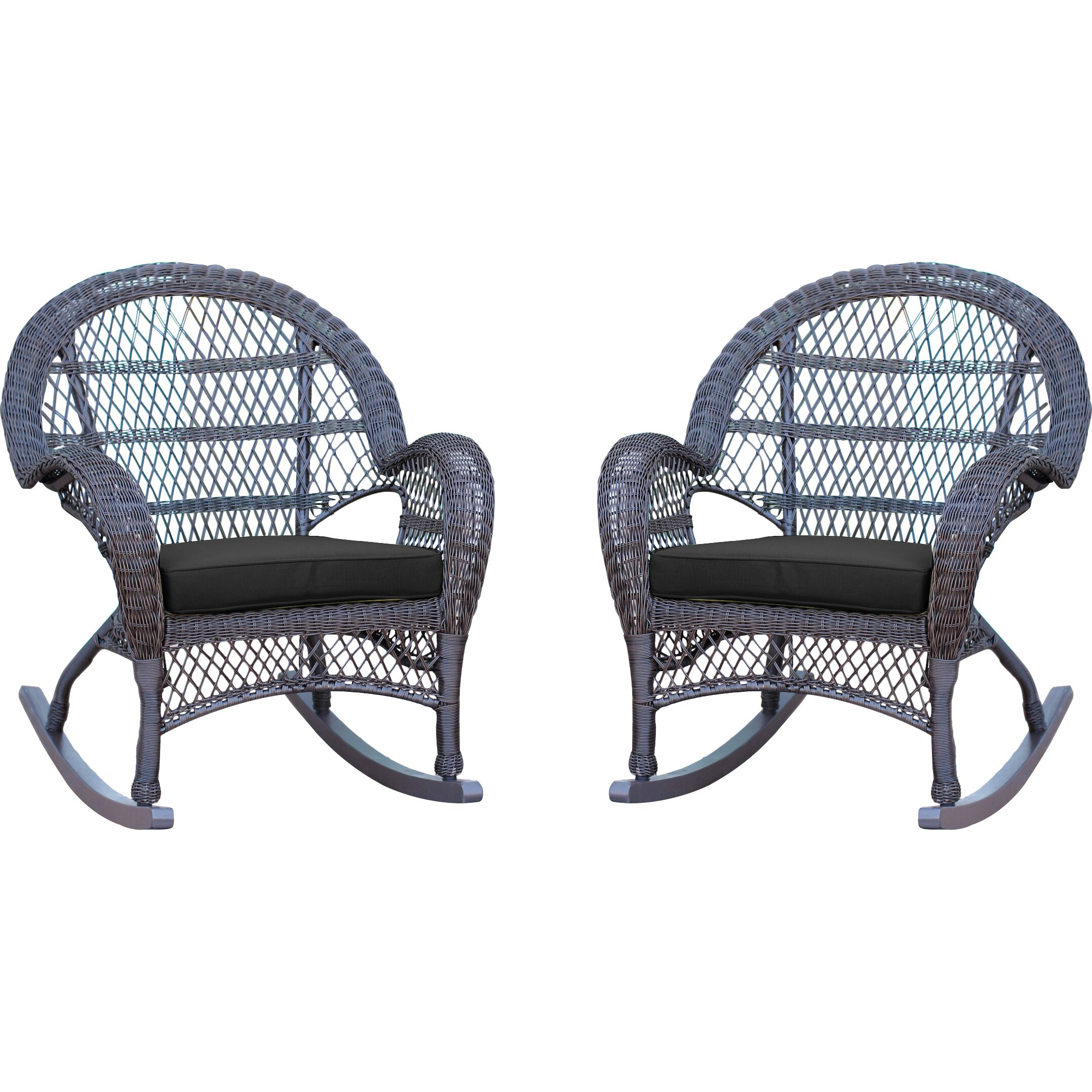 Jeco Inc Wicker Rocker Chair With Cushions Amp Reviews