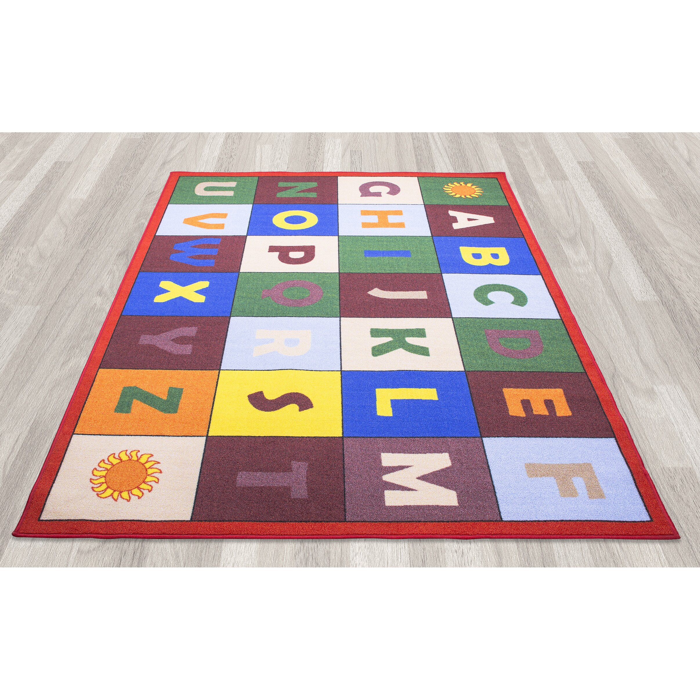 Educational Rugs Cheap: Ottomanson Children's Educational Area Rug & Reviews