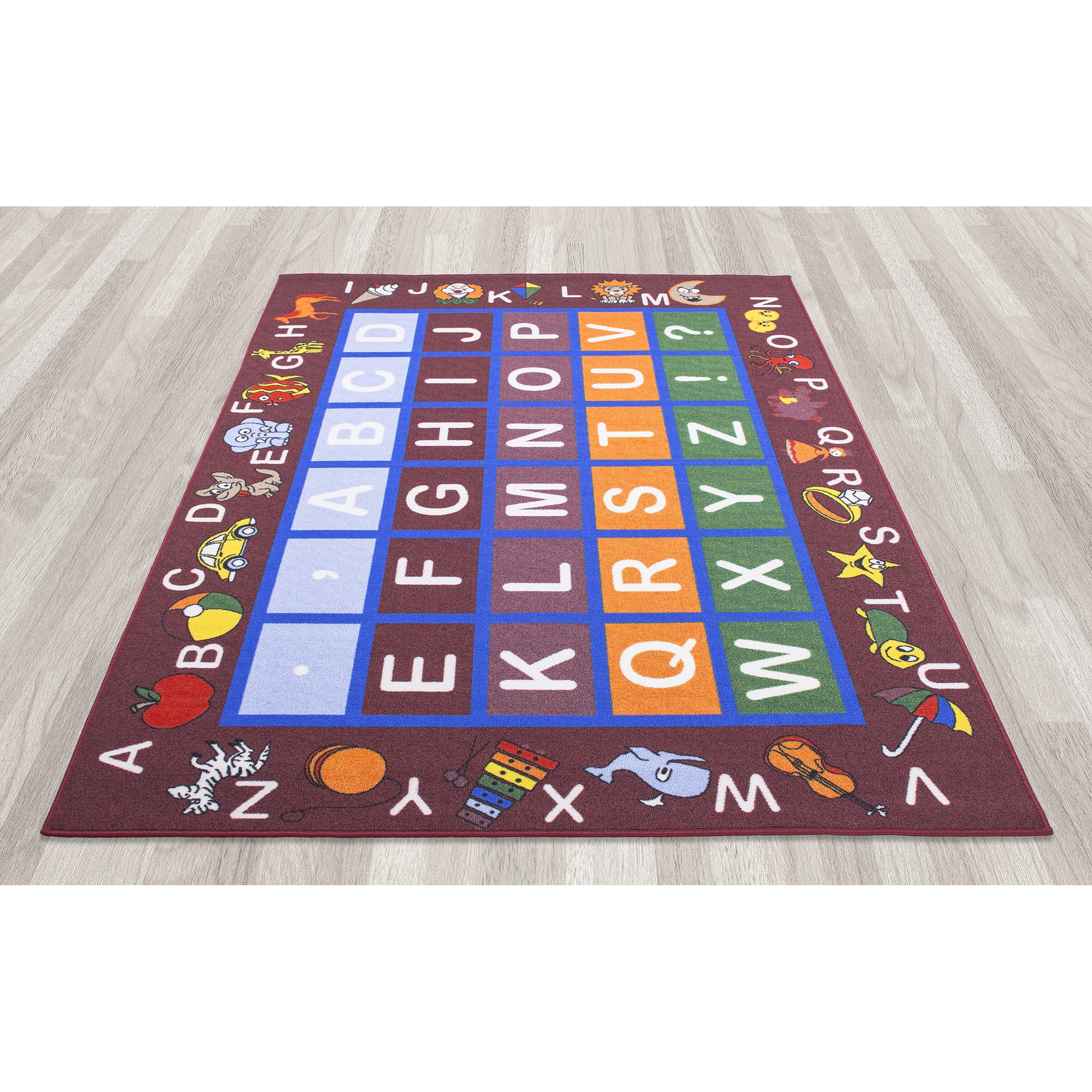 Ottomanson Children 39 S Educational Area Rug Reviews Wayfair
