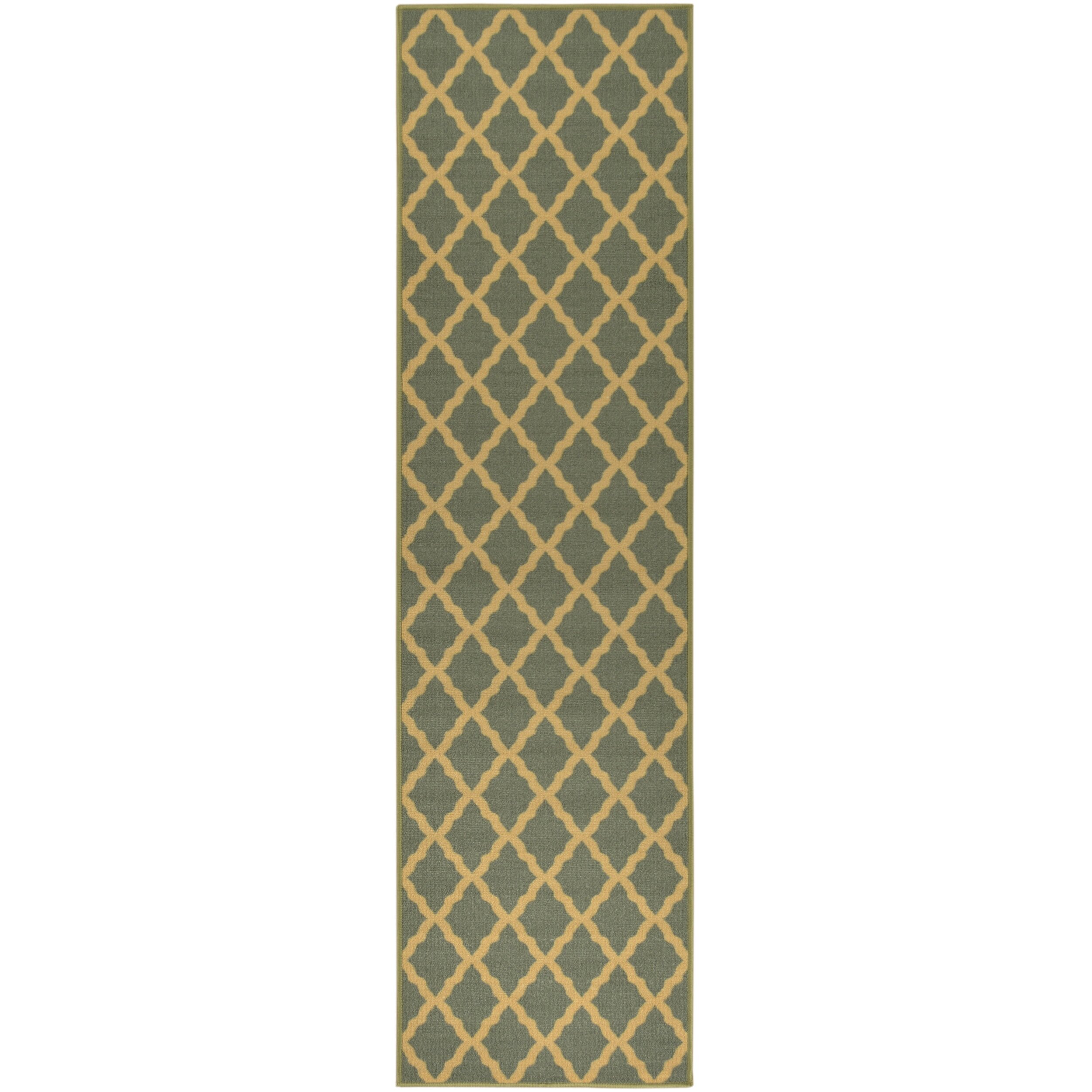 ottomanson ottohome moroccan trellis design sage green area rug reviews wayfair. Black Bedroom Furniture Sets. Home Design Ideas