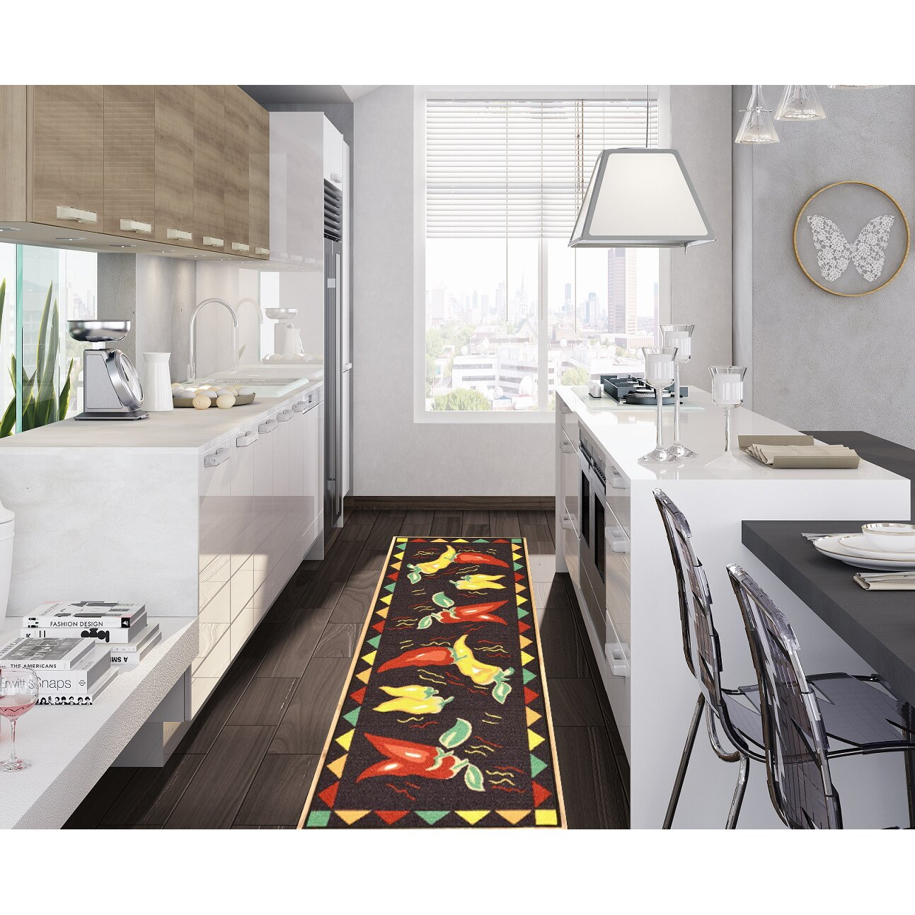 Washable Rugs For Kitchen Area: Ottomanson Siesta Black Area Rug & Reviews