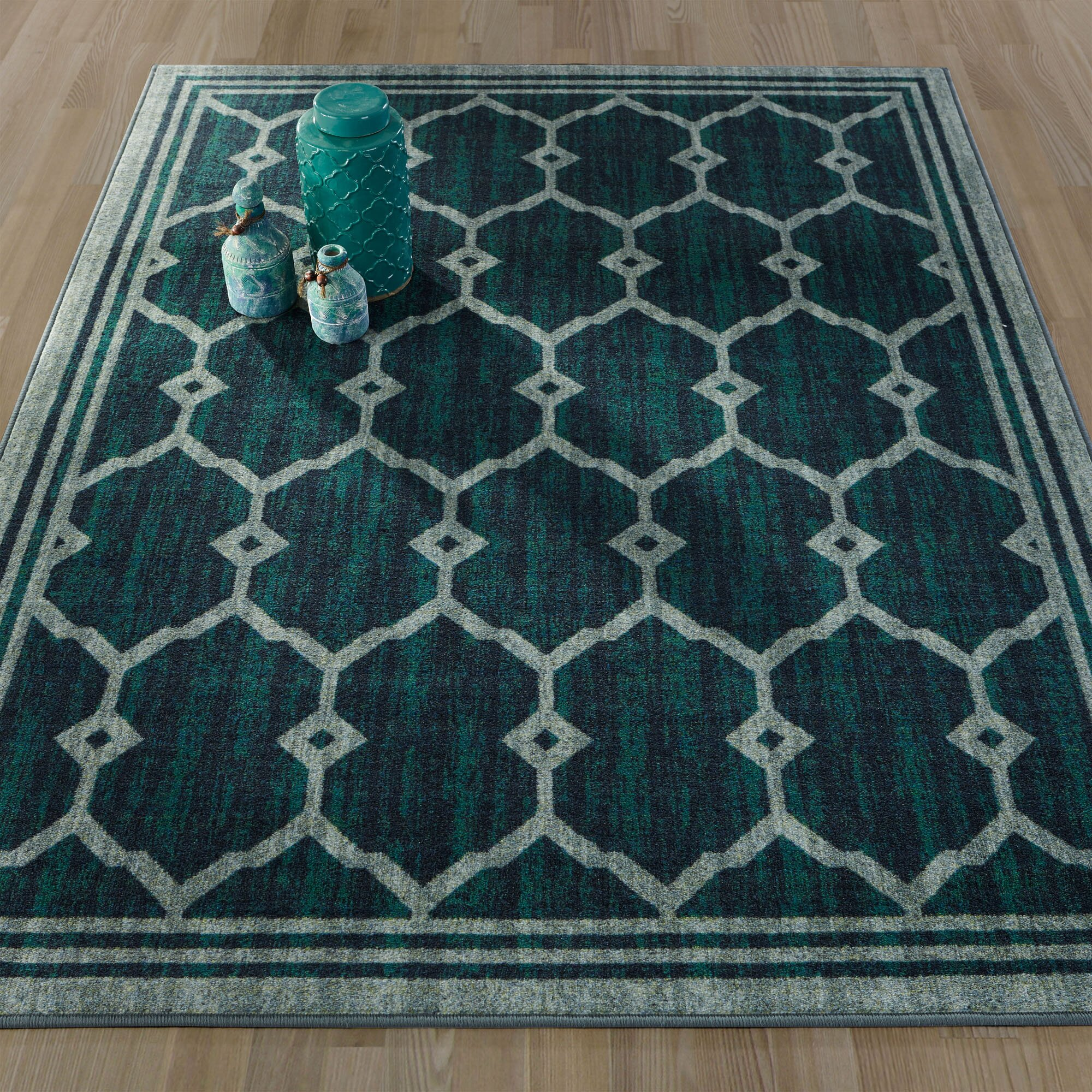 Ottomanson Authentic Green Area Rug
