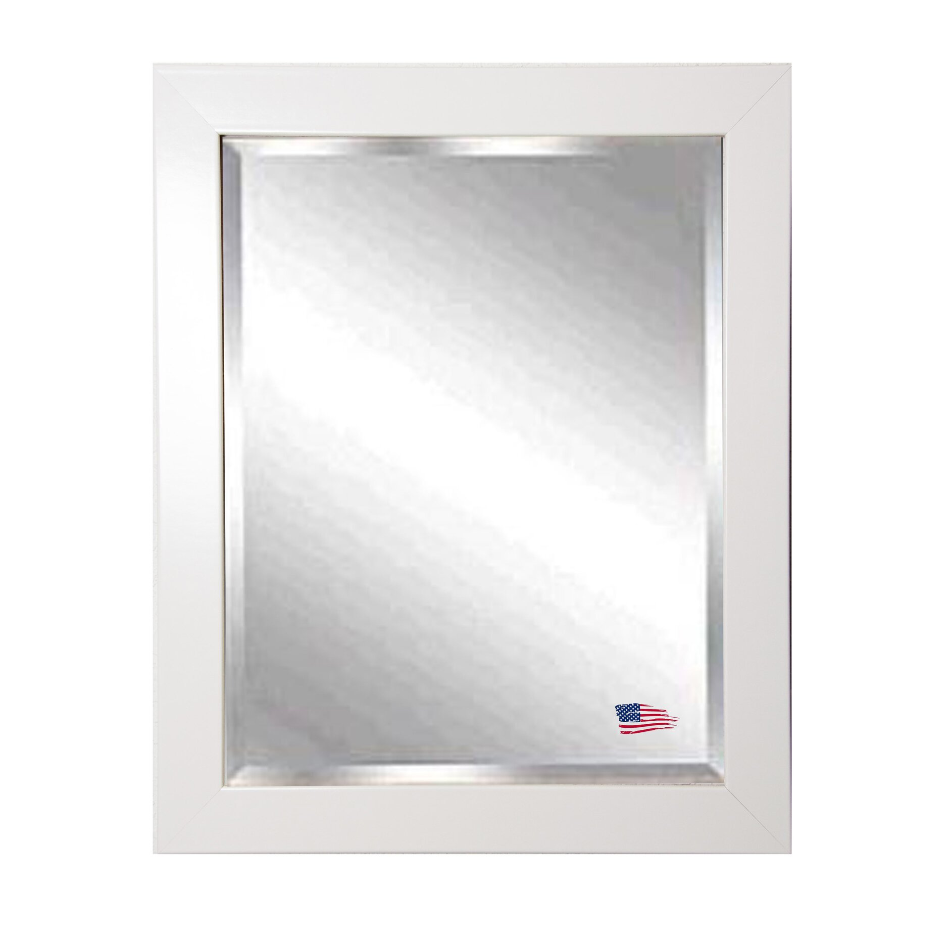 Rayne mirrors jovie jane glossy white wall mirror for White mirror