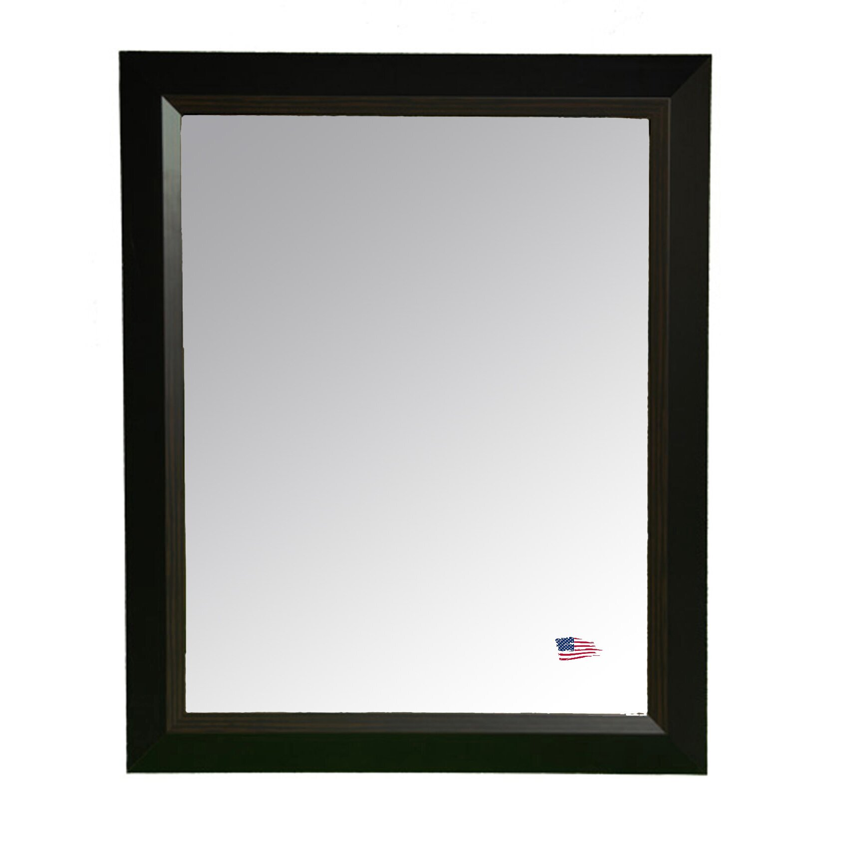 Rayne mirrors brown grain black wall mirror reviews for Black wall mirror