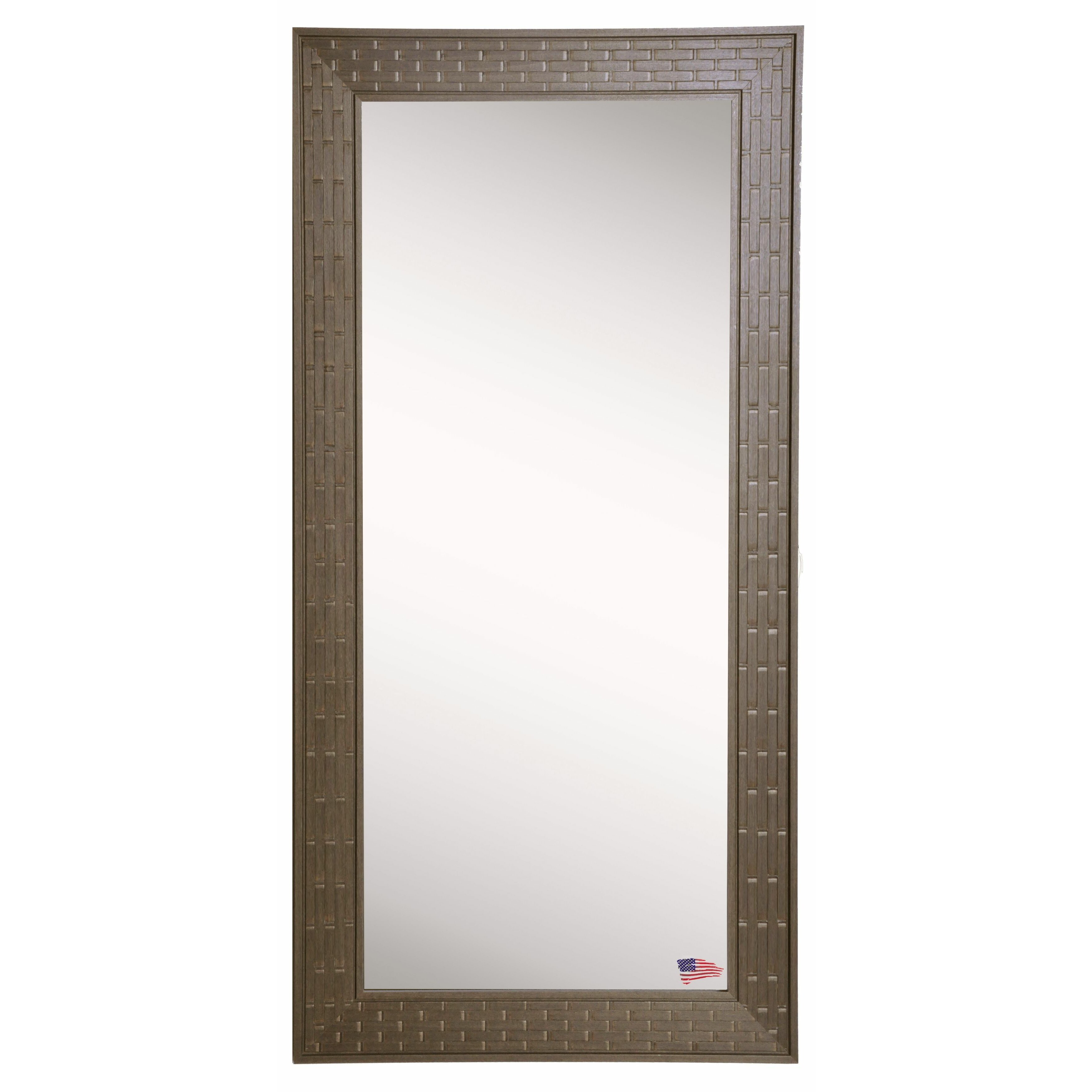 Rayne mirrors jovie jane bricks tall mirror wayfair for Tall glass mirror