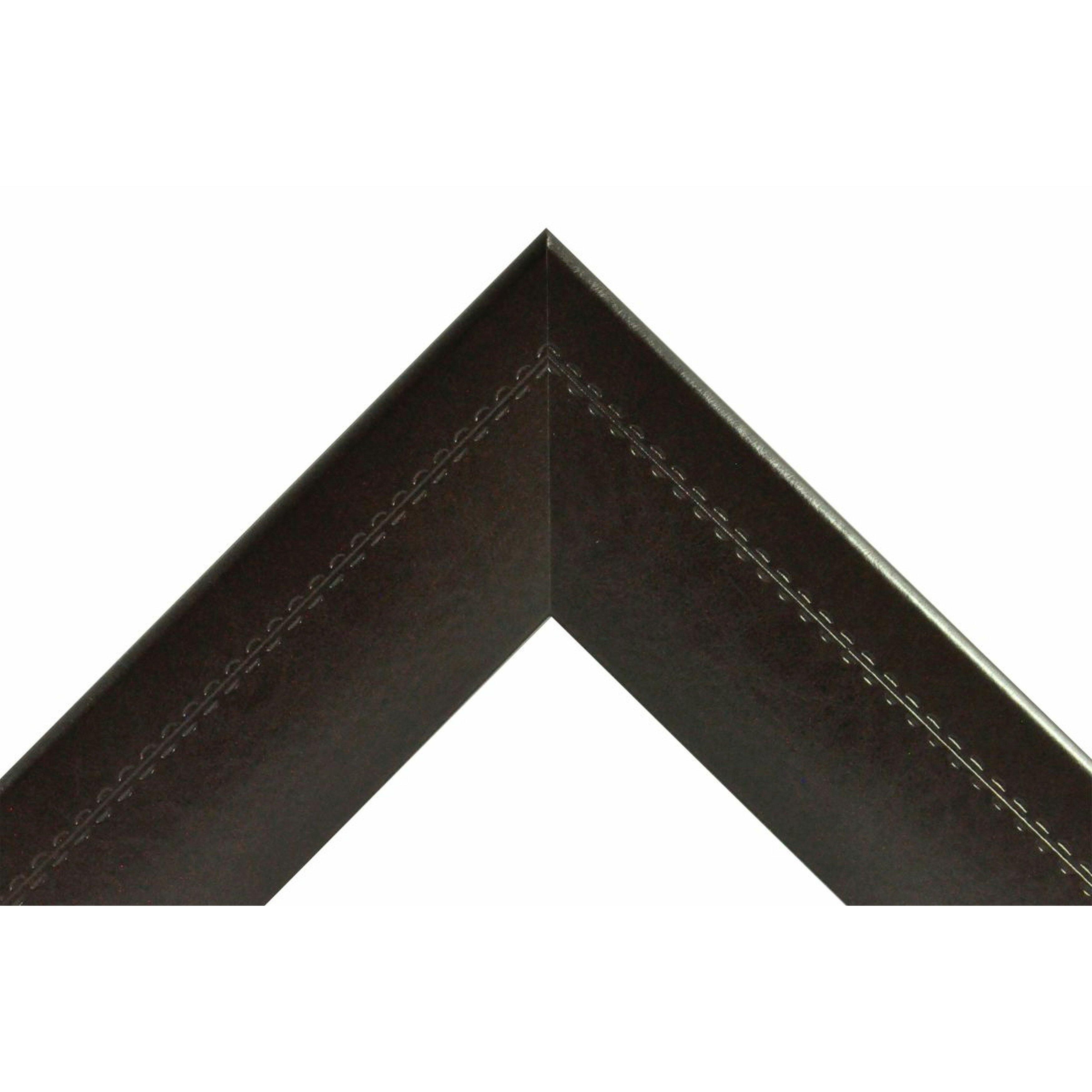 Rayne Mirrors Jovie Jane Espresso Stitched Leather Full