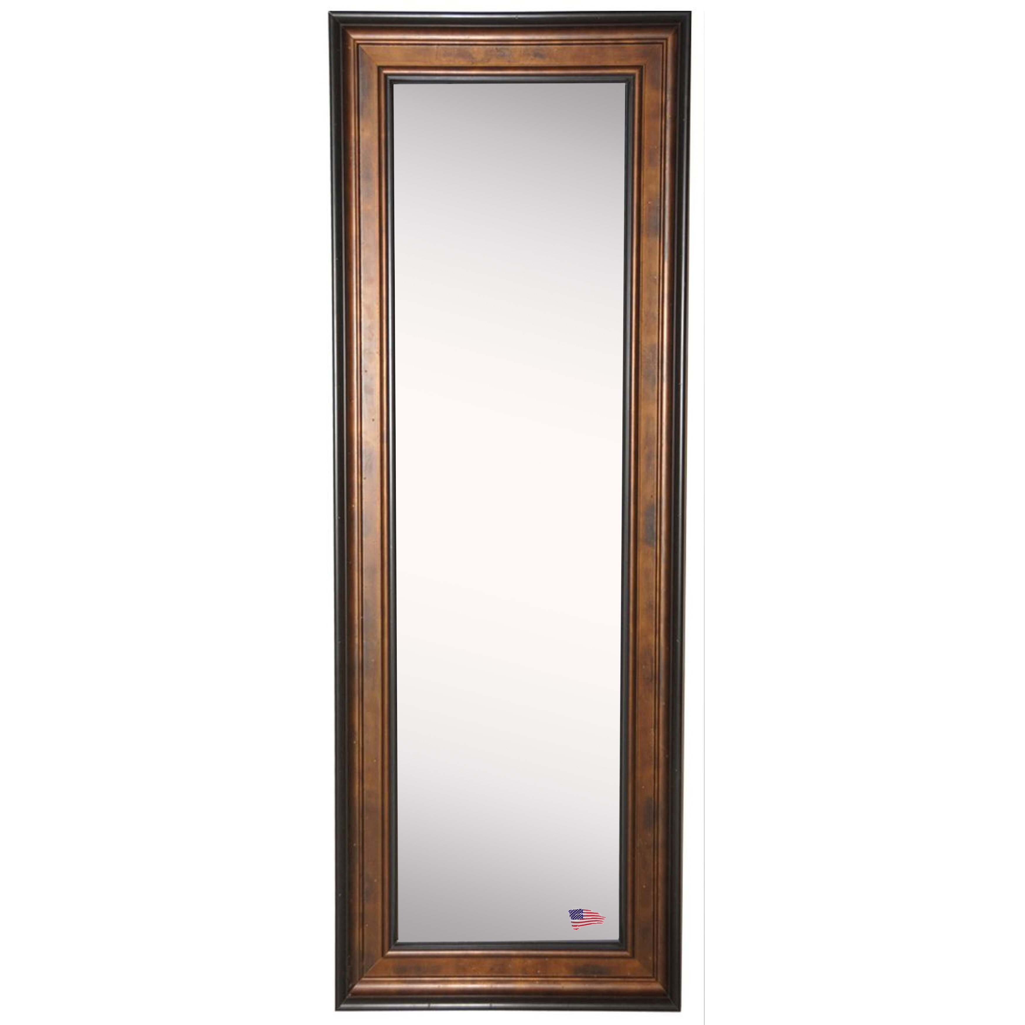 Rayne mirrors ava wooden bronze and black tall body mirror for Bronze mirror