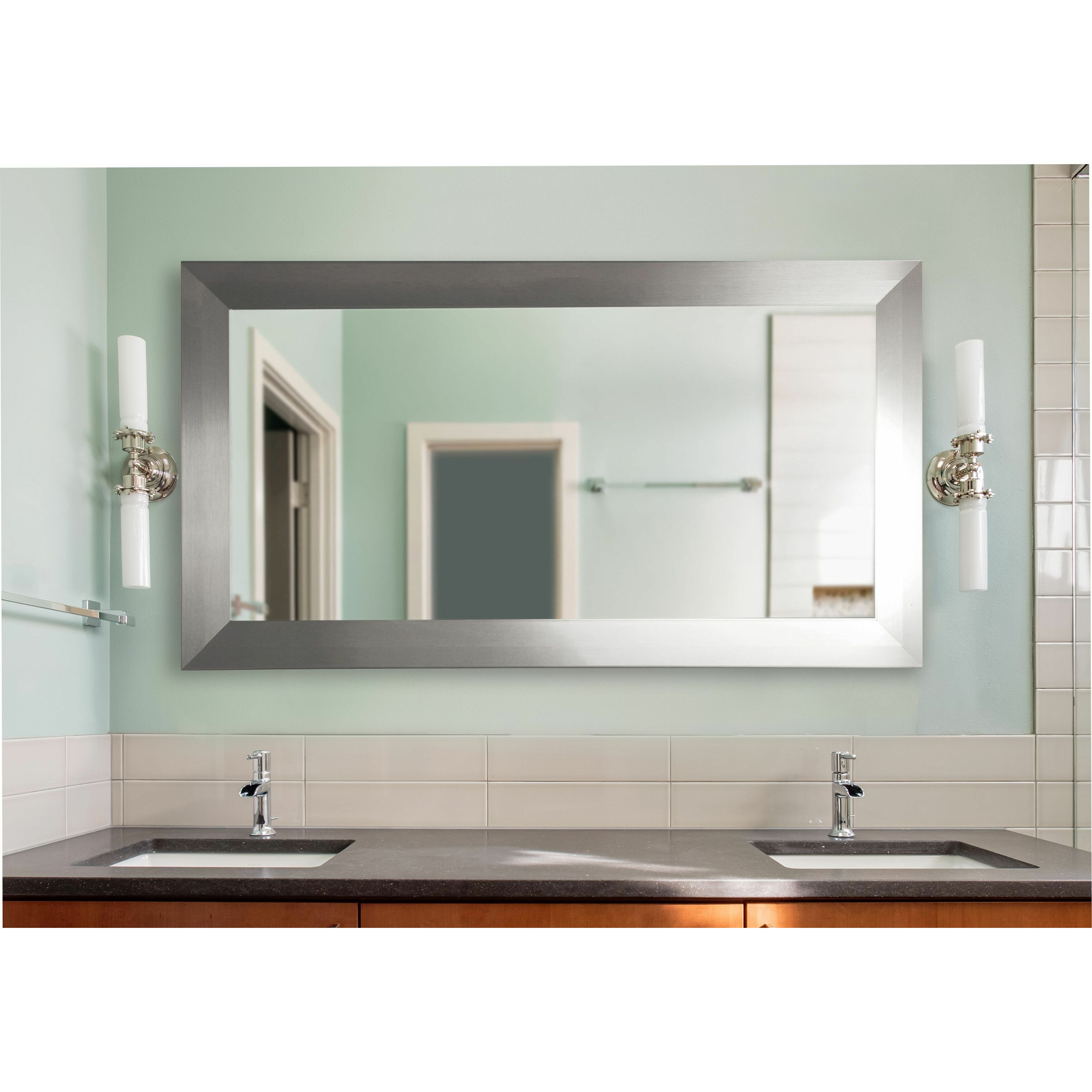 Rayne Mirrors Double Wide Vanity Wall Mirror Amp Reviews
