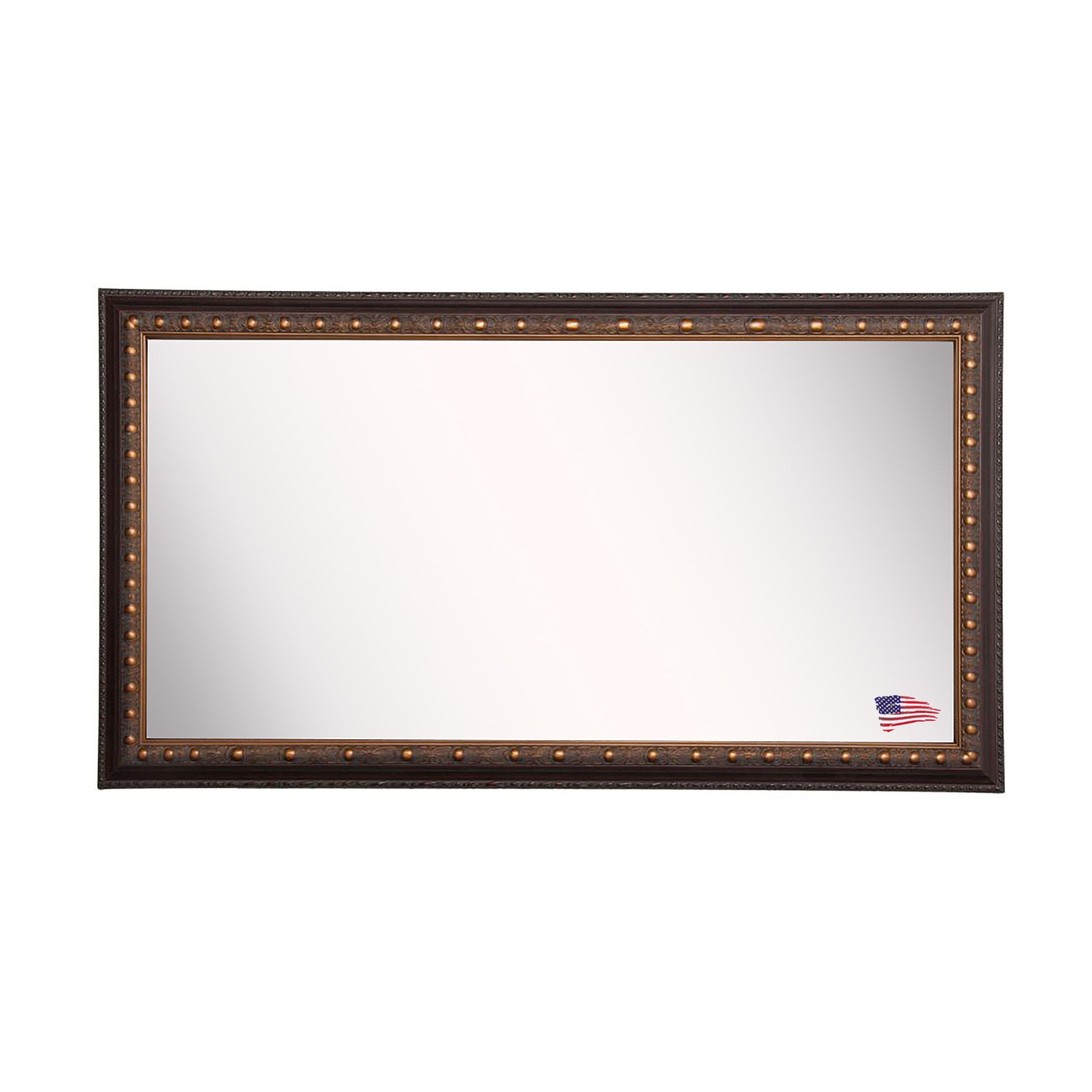 Rayne mirrors traditional cameo double vanity wall mirror for Traditional mirror