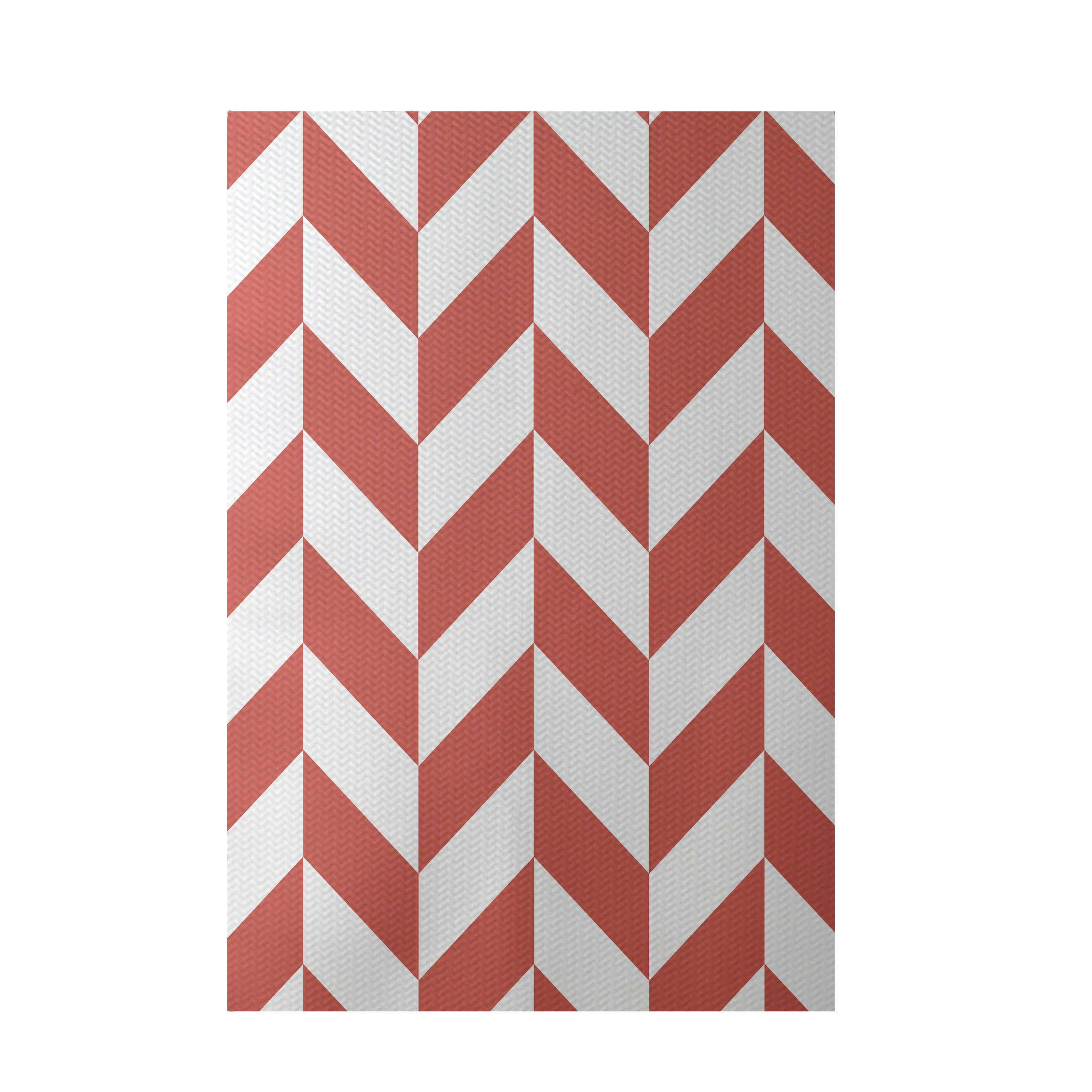 e by design Geometric Coral Indoor Outdoor Area Rug