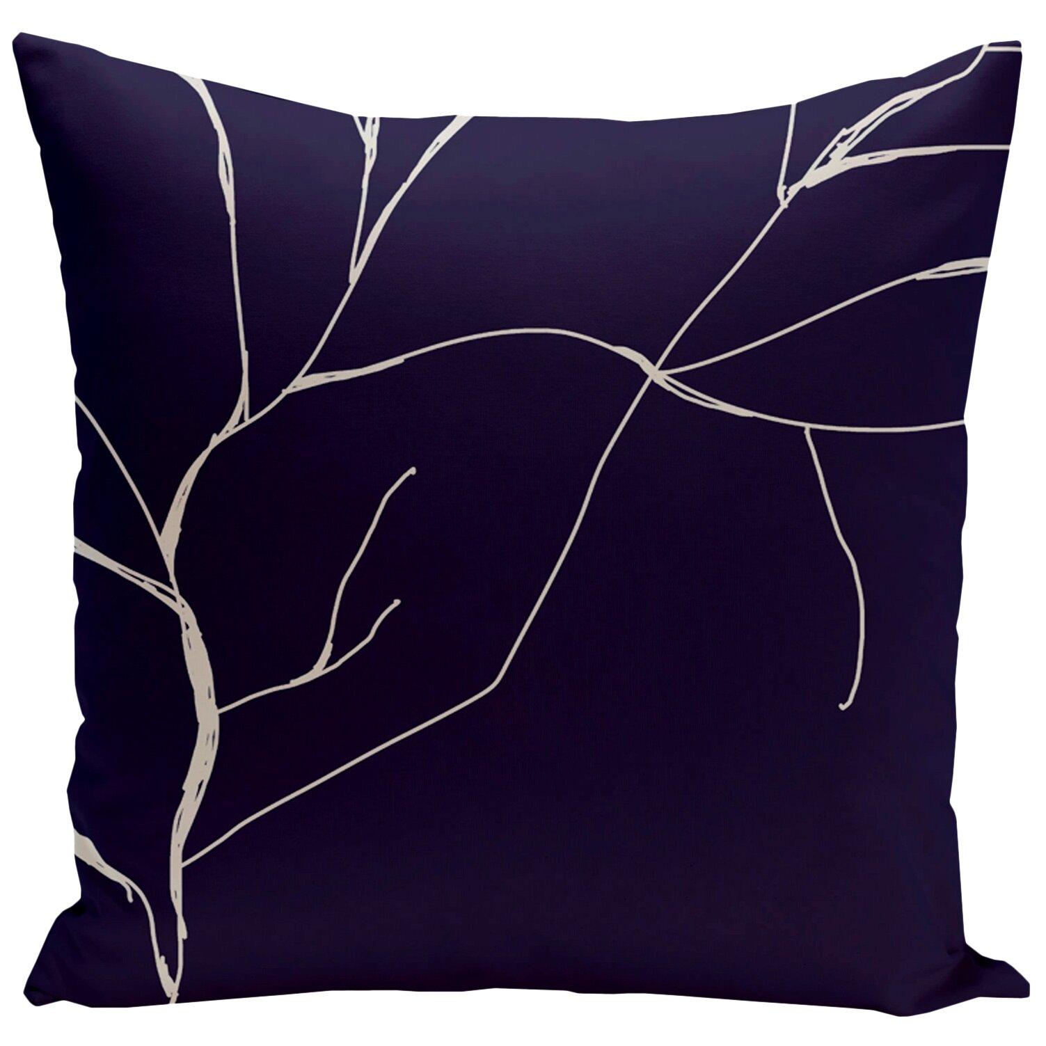 e by design Floral Polyester Throw Pillow & Reviews Wayfair