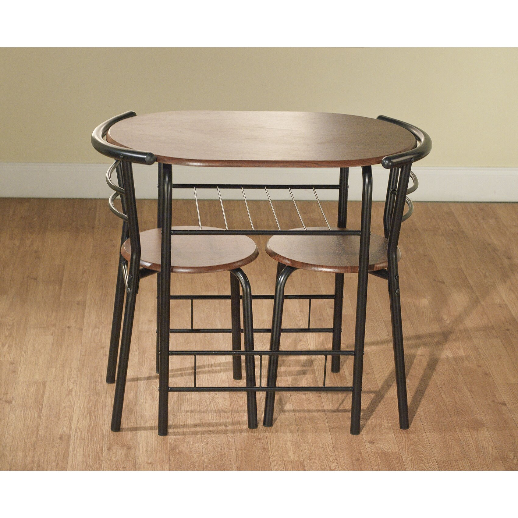 Tms Bistro 3 Piece Compact Dining Set Amp Reviews Wayfair
